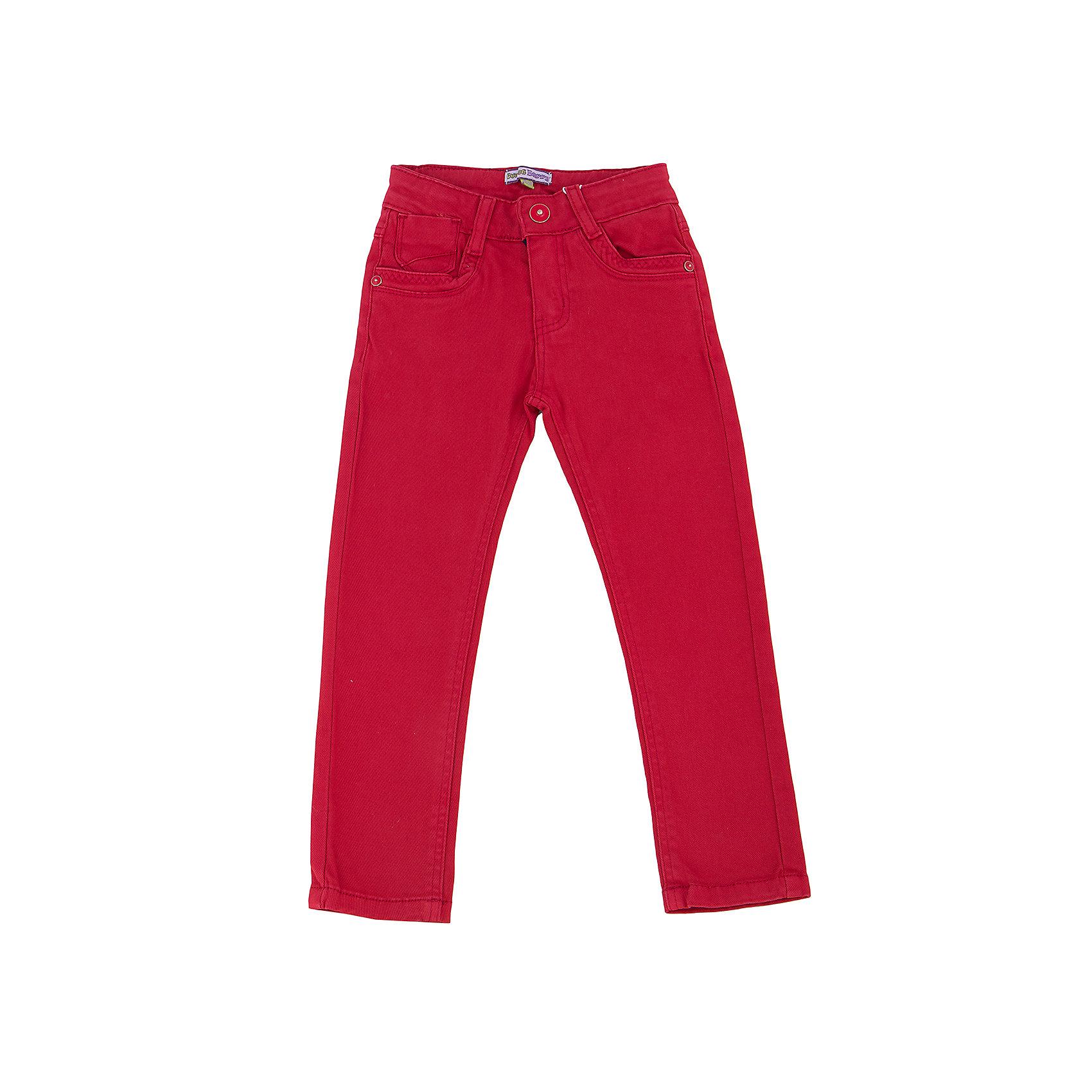 Брюки для девочки Sweet BerryТакая модель брюк для девочки отличается модным дизайном и ярким цветом. Удачный крой обеспечит ребенку комфорт и тепло, удобный пояс с внутренней резинкой на пуговицах позволяет регулировать размер. Вещь плотно прилегает к телу там, где нужно, и отлично сидит по фигуре. Брюки станут отличной базовой вещью для гардероба. Натуральный хлопок в составе материала обеспечит коже возможность дышать и не вызовет аллергии.<br>Одежда от бренда Sweet Berry - это простой и выгодный способ одеть ребенка удобно и стильно. Всё изделия тщательно проработаны: швы - прочные, материал - качественный, фурнитура - подобранная специально для детей. <br><br>Дополнительная информация:<br><br>цвет: красный;<br>пояс регулируется внутренней резинкой на пуговицах;<br>материал: 98% хлопок, 2% эластан;<br>застежка на пуговицу и молнию.<br><br>Брюки для девочки от бренда Sweet Berry можно купить в нашем интернет-магазине.<br><br>Ширина мм: 215<br>Глубина мм: 88<br>Высота мм: 191<br>Вес г: 336<br>Цвет: красный<br>Возраст от месяцев: 72<br>Возраст до месяцев: 84<br>Пол: Женский<br>Возраст: Детский<br>Размер: 122,98,128,104,110,116<br>SKU: 4931518