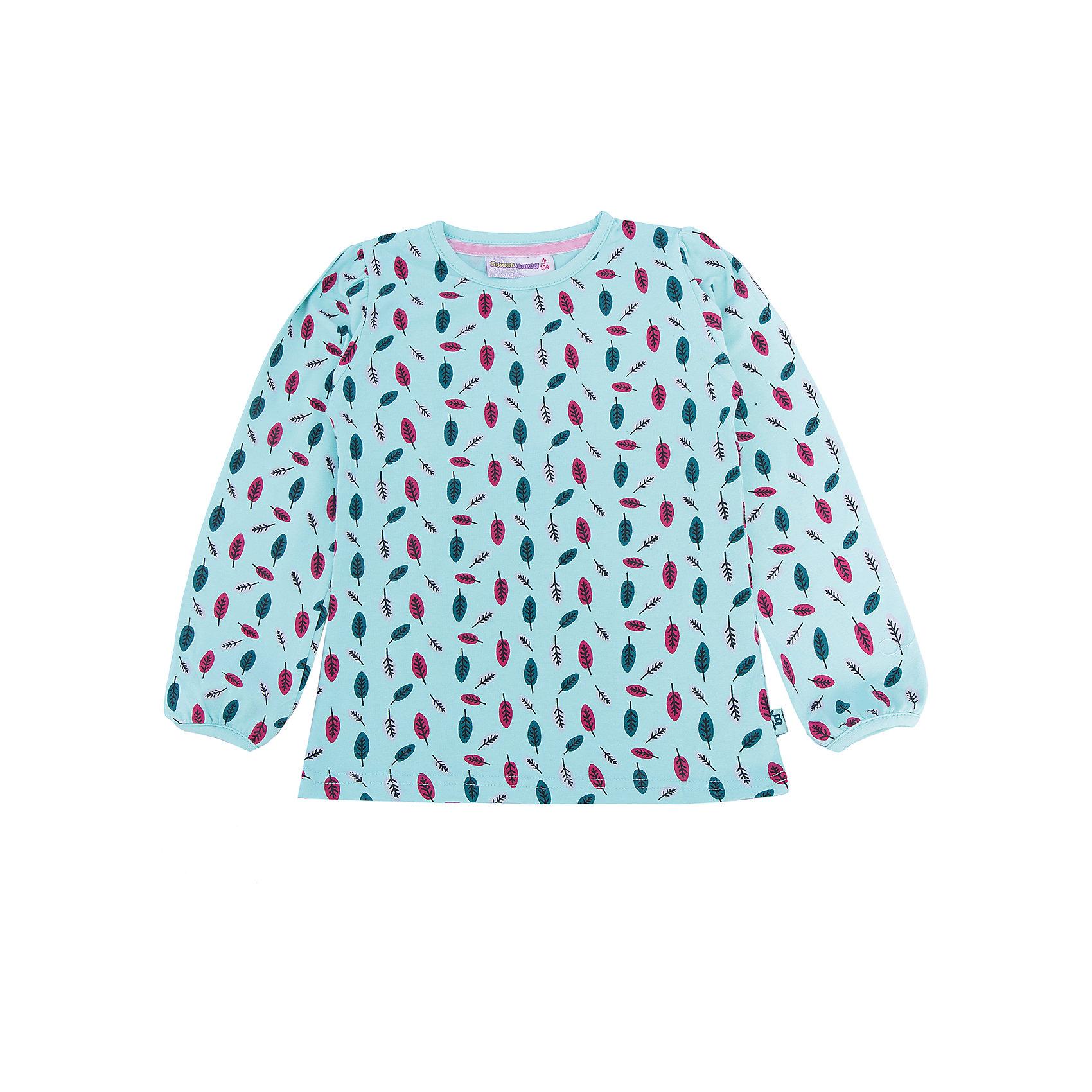 Футболка с длинным рукавом для девочки Sweet BerryТакая футболка с длинным рукавом для девочки отличается модным дизайном с ярким принтом. Удачный крой обеспечит ребенку комфорт и тепло. Вещь плотно прилегает к телу там, где нужно, и отлично сидит по фигуре.<br>Одежда от бренда Sweet Berry - это простой и выгодный способ одеть ребенка удобно и стильно. Всё изделия тщательно проработаны: швы - прочные, материал - качественный, фурнитура - подобранная специально для детей. <br><br>Дополнительная информация:<br><br>цвет: голубой;<br>материал: 95% хлопок, 5% эластан;<br>декорирована принтом.<br><br>Футболку с длинным рукавом для девочки от бренда Sweet Berry можно купить в нашем интернет-магазине.<br><br>Ширина мм: 230<br>Глубина мм: 40<br>Высота мм: 220<br>Вес г: 250<br>Цвет: голубой<br>Возраст от месяцев: 24<br>Возраст до месяцев: 36<br>Пол: Женский<br>Возраст: Детский<br>Размер: 98,104,110,116,122,128<br>SKU: 4931630