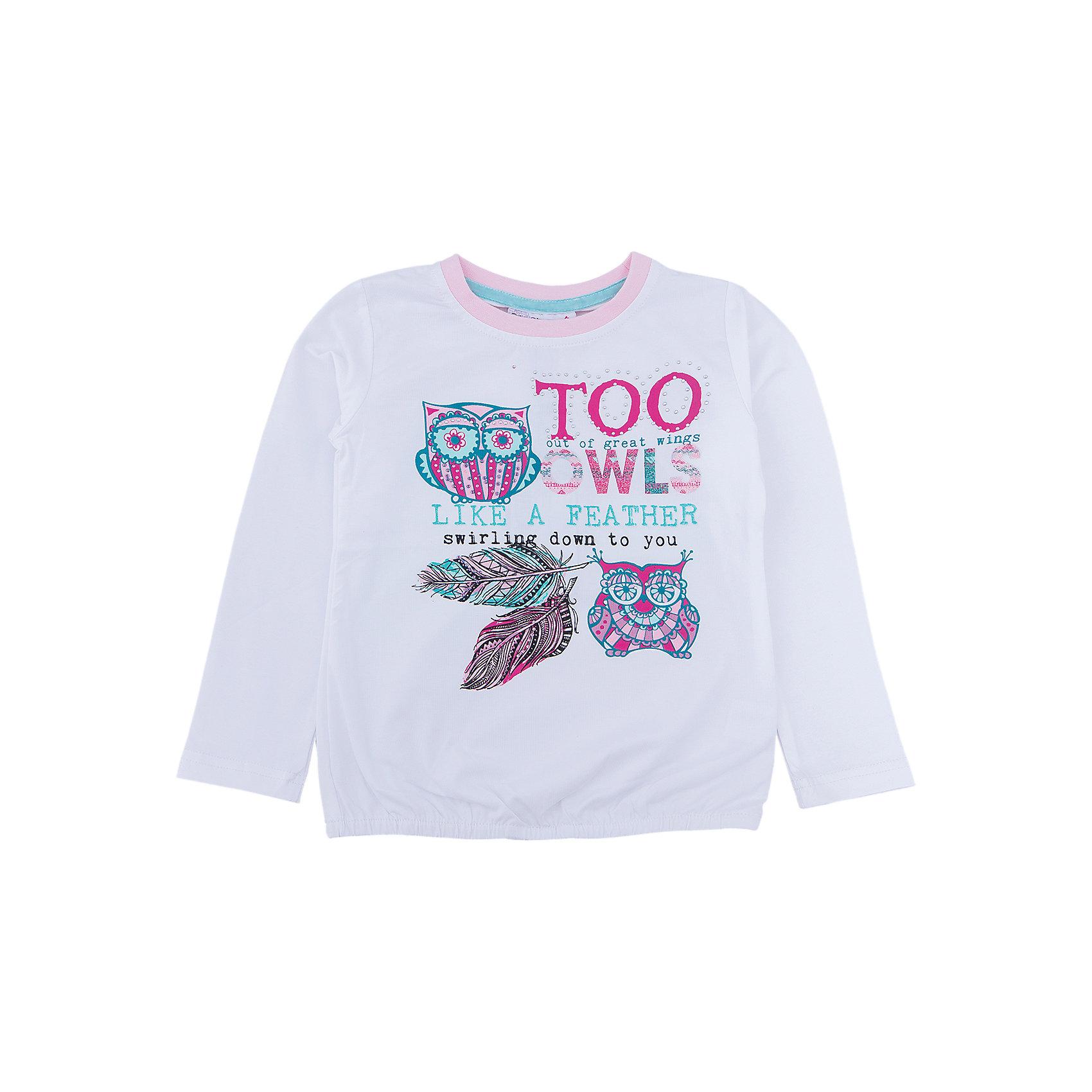 Футболка с длинным рукавом для девочки Sweet BerryТакая футболка с длинным рукавом для девочки отличается модным дизайном с ярким принтом. Удачный крой обеспечит ребенку комфорт и тепло. Вещь плотно прилегает к телу там, где нужно, и отлично сидит по фигуре.<br>Одежда от бренда Sweet Berry - это простой и выгодный способ одеть ребенка удобно и стильно. Всё изделия тщательно проработаны: швы - прочные, материал - качественный, фурнитура - подобранная специально для детей. <br><br>Дополнительная информация:<br><br>цвет: белый;<br>материал: 95% хлопок, 5% эластан;<br>декорирована принтом.<br><br>Футболку с длинным рукавом для девочки от бренда Sweet Berry можно купить в нашем интернет-магазине.<br><br>Ширина мм: 230<br>Глубина мм: 40<br>Высота мм: 220<br>Вес г: 250<br>Цвет: белый<br>Возраст от месяцев: 24<br>Возраст до месяцев: 36<br>Пол: Женский<br>Возраст: Детский<br>Размер: 98,104,110,116,122,128<br>SKU: 4931637