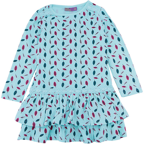 Платье для девочки Sweet BerryОсенне-зимние платья и сарафаны<br>Такое платье отличается модным дизайном с принтом. Удачный крой обеспечит ребенку комфорт и тепло. Плотный материал делает вещь идеальной для прохладной погоды. Она хорошо прилегает к телу там, где нужно, и отлично сидит по фигуре. Натуральный хлопок в составе трикотажа обеспечит коже возможность дышать и не вызовет аллергии.<br>Одежда от бренда Sweet Berry - это простой и выгодный способ одеть ребенка удобно и стильно. Всё изделия тщательно проработаны: швы - прочные, материал - качественный, фурнитура - подобранная специально для детей.<br><br>Дополнительная информация:<br><br>цвет: голубой;<br>состав: 95% хлопок, 5% эластан;<br>декорировано принтом.<br><br>Платье для девочки от бренда Sweet Berry можно купить в нашем интернет-магазине.<br><br>Ширина мм: 236<br>Глубина мм: 16<br>Высота мм: 184<br>Вес г: 177<br>Цвет: голубой<br>Возраст от месяцев: 24<br>Возраст до месяцев: 36<br>Пол: Женский<br>Возраст: Детский<br>Размер: 98,104,128,122,116,110<br>SKU: 4931651
