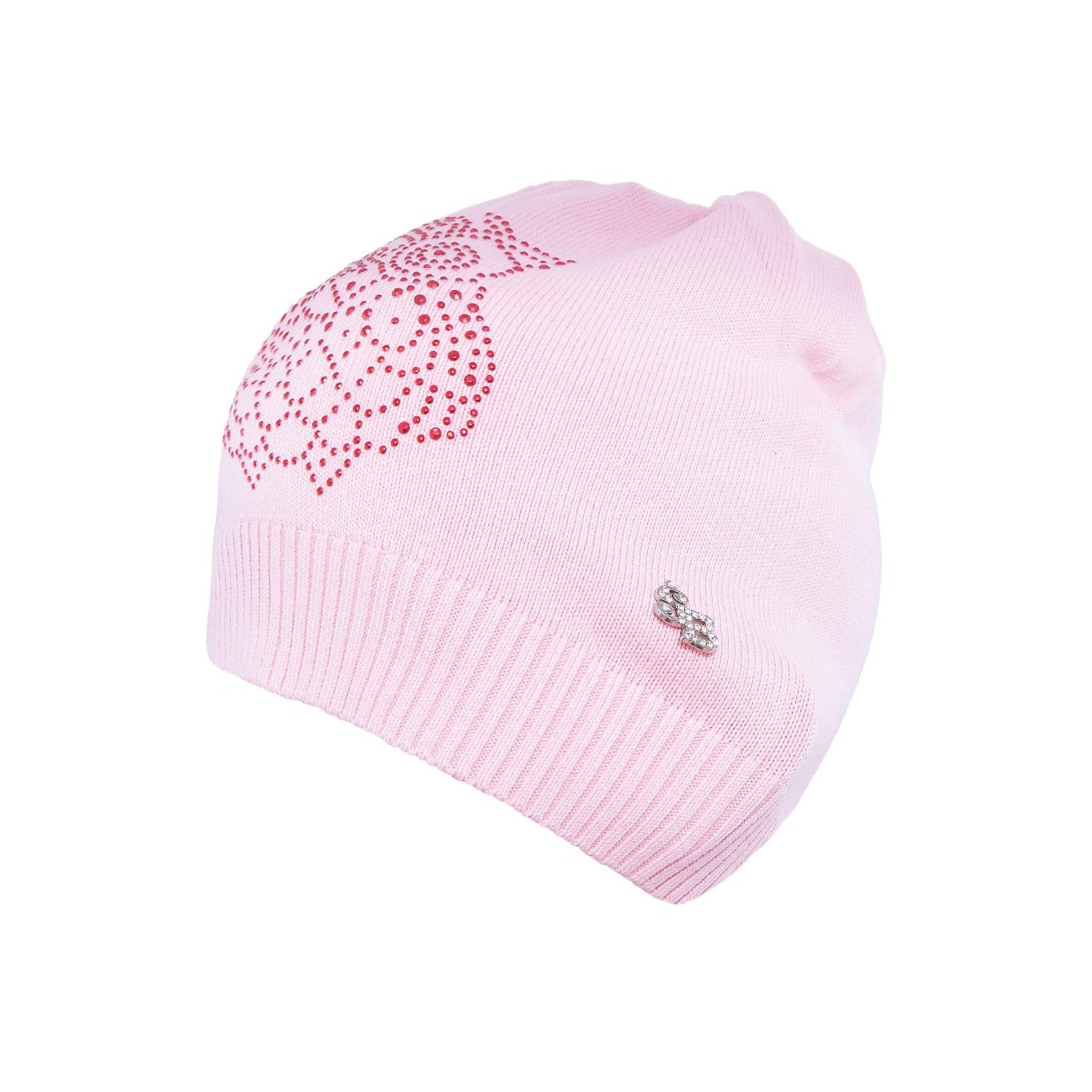 Шапка для девочки Sweet BerryТакая шапка для девочки отличается модным дизайном: узор из страз добавляет изделию оригинальности. Удачный крой обеспечит ребенку комфорт и тепло. Край изделия обработан мягкой резинкой, поэтому вещь плотно прилегает к голове. Украшена шапка симпатичной подвеской.<br>Одежда от бренда Sweet Berry - это простой и выгодный способ одеть ребенка удобно и стильно. Всё изделия тщательно проработаны: швы - прочные, материал - качественный, фурнитура - подобранная специально для детей. <br><br>Дополнительная информация:<br><br>цвет: розовый;<br>материал: 60% хлопок, 40% акрил;<br>украшена стразами и подвеской.<br><br>Шапку для девочки от бренда Sweet Berry можно купить в нашем интернет-магазине.<br><br>Ширина мм: 89<br>Глубина мм: 117<br>Высота мм: 44<br>Вес г: 155<br>Цвет: розовый<br>Возраст от месяцев: 48<br>Возраст до месяцев: 60<br>Пол: Женский<br>Возраст: Детский<br>Размер: 54,50,52<br>SKU: 4931672