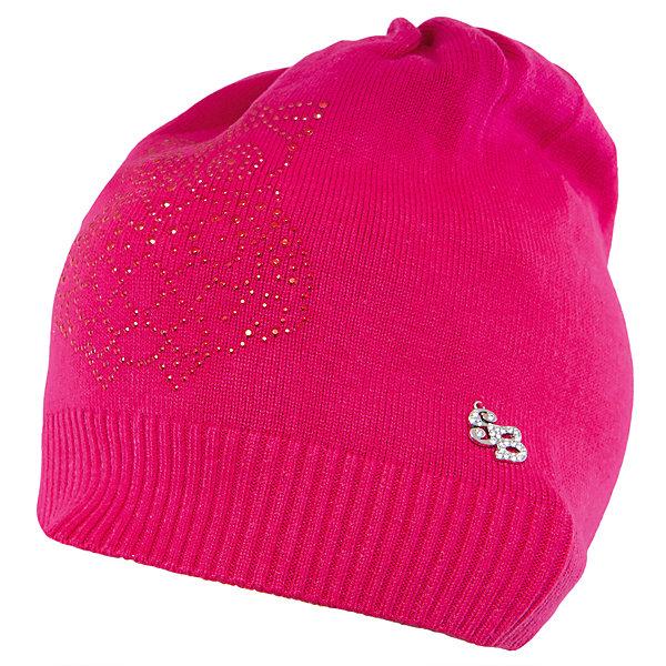Шапка для девочки Sweet BerryГоловные уборы<br>Такая шапка для девочки отличается модным дизайном: узор из страз добавляет изделию оригинальности. Удачный крой обеспечит ребенку комфорт и тепло. Край изделия обработан мягкой резинкой, поэтому вещь плотно прилегает к голове. Украшена шапка симпатичной подвеской.<br>Одежда от бренда Sweet Berry - это простой и выгодный способ одеть ребенка удобно и стильно. Всё изделия тщательно проработаны: швы - прочные, материал - качественный, фурнитура - подобранная специально для детей. <br><br>Дополнительная информация:<br><br>цвет: розовый;<br>материал: 60% хлопок, 40% акрил;<br>украшена стразами и подвеской.<br><br>Шапку для девочки от бренда Sweet Berry можно купить в нашем интернет-магазине.<br>Ширина мм: 89; Глубина мм: 117; Высота мм: 44; Вес г: 155; Цвет: розовый; Возраст от месяцев: 24; Возраст до месяцев: 36; Пол: Женский; Возраст: Детский; Размер: 50,52,54; SKU: 4931676;