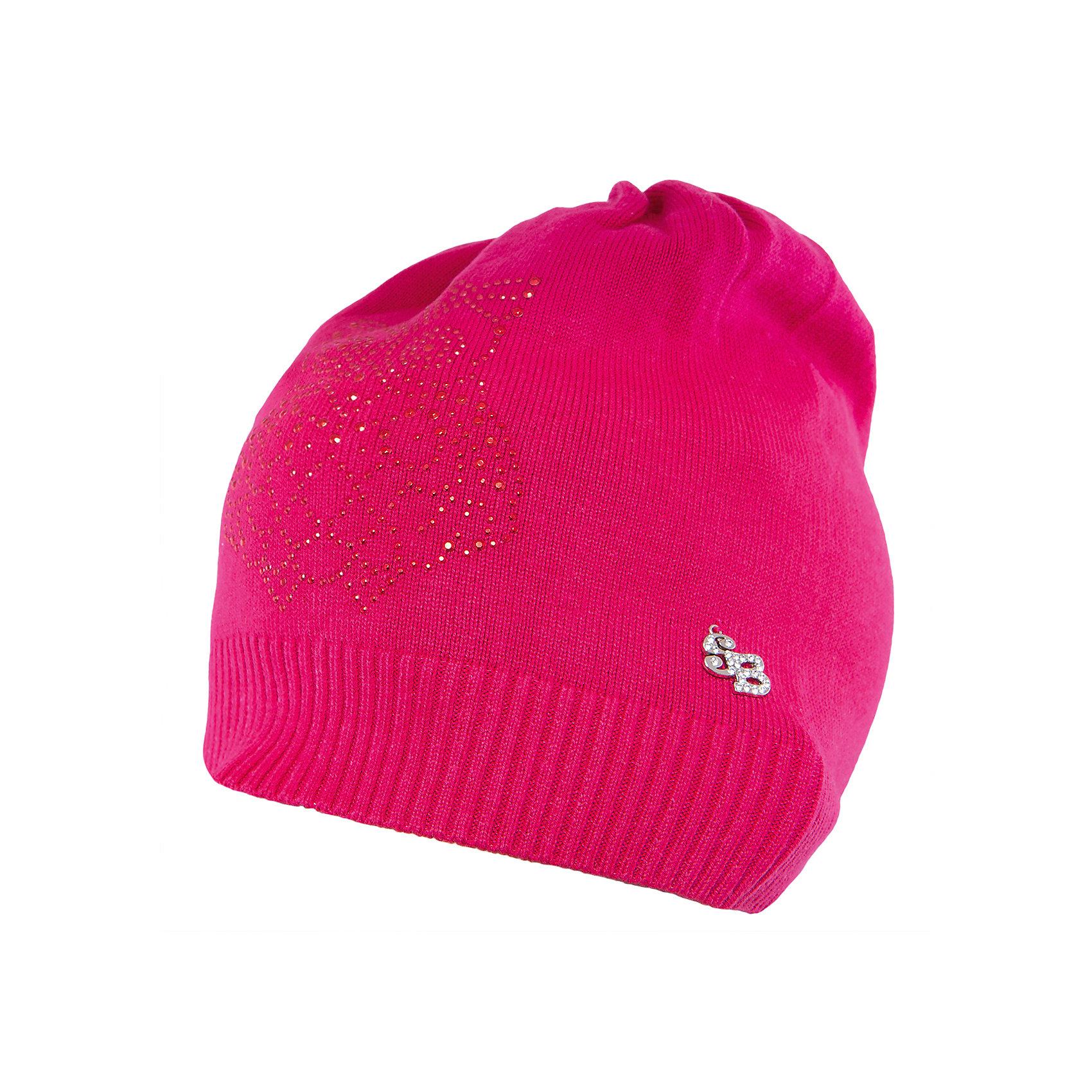 Шапка для девочки Sweet BerryГоловные уборы<br>Такая шапка для девочки отличается модным дизайном: узор из страз добавляет изделию оригинальности. Удачный крой обеспечит ребенку комфорт и тепло. Край изделия обработан мягкой резинкой, поэтому вещь плотно прилегает к голове. Украшена шапка симпатичной подвеской.<br>Одежда от бренда Sweet Berry - это простой и выгодный способ одеть ребенка удобно и стильно. Всё изделия тщательно проработаны: швы - прочные, материал - качественный, фурнитура - подобранная специально для детей. <br><br>Дополнительная информация:<br><br>цвет: розовый;<br>материал: 60% хлопок, 40% акрил;<br>украшена стразами и подвеской.<br><br>Шапку для девочки от бренда Sweet Berry можно купить в нашем интернет-магазине.<br><br>Ширина мм: 89<br>Глубина мм: 117<br>Высота мм: 44<br>Вес г: 155<br>Цвет: розовый<br>Возраст от месяцев: 24<br>Возраст до месяцев: 36<br>Пол: Женский<br>Возраст: Детский<br>Размер: 50,54,52<br>SKU: 4931676