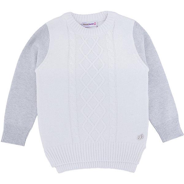 Свитер для девочки Sweet BerryСвитера и кардиганы<br>Такой свитер для девочки отличается модным дизайном с удлиненной спинкой. Удачный крой обеспечит ребенку комфорт и тепло. Плотная вязка делает вещь идеальной для прохладной погоды. Она плотно прилегает к телу там, где нужно, и отлично сидит по фигуре. Натуральный хлопок в составе пряжи обеспечит коже возможность дышать и не вызовет аллергии.<br>Одежда от бренда Sweet Berry - это простой и выгодный способ одеть ребенка удобно и стильно. Всё изделия тщательно проработаны: швы - прочные, материал - качественный, фурнитура - подобранная специально для детей.<br><br>Дополнительная информация:<br><br>цвет: белый;<br>состав: 98% хлопок, 2% люрекс;<br>декорирован вязаными полосами.<br><br>Свитер для девочки от бренда Sweet Berry можно купить в нашем интернет-магазине.<br>Ширина мм: 190; Глубина мм: 74; Высота мм: 229; Вес г: 236; Цвет: белый; Возраст от месяцев: 36; Возраст до месяцев: 48; Пол: Женский; Возраст: Детский; Размер: 104,98,128,122,116,110; SKU: 4931687;