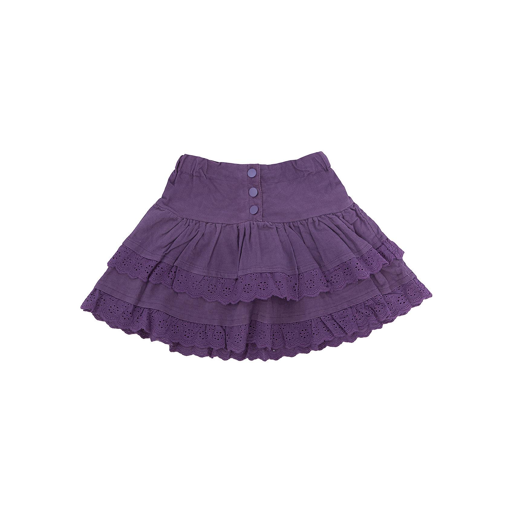 Юбка для девочки Sweet BerryЮбки<br>Эта юбка отличается модным дизайном с кружевом по краю подола. Удачный крой обеспечит ребенку комфорт и тепло. Плотный материал делает вещь идеальной для прохладной погоды. Она хорошо прилегает к телу там, где нужно, и отлично сидит на ребенке. Натуральный хлопок обеспечит коже возможность дышать и не вызовет аллергии. В поясе юбки - мягкая резинка.<br>Одежда от бренда Sweet Berry - это простой и выгодный способ одеть ребенка удобно и стильно. Всё изделия тщательно проработаны: швы - прочные, материал - качественный, фурнитура - подобранная специально для детей.<br><br>Дополнительная информация:<br><br>цвет: фиолетовый;<br>состав: 100% хлопок (микровельвет);<br>в поясе - мягкая резинка, кружево по краю подола.<br><br>Юбку для девочки от бренда Sweet Berry можно купить в нашем интернет-магазине.<br><br>Ширина мм: 207<br>Глубина мм: 10<br>Высота мм: 189<br>Вес г: 183<br>Цвет: лиловый<br>Возраст от месяцев: 24<br>Возраст до месяцев: 36<br>Пол: Женский<br>Возраст: Детский<br>Размер: 98,104,110,116,122,128<br>SKU: 4931722