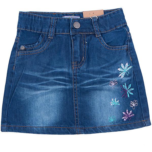 Юбка джинсовая для девочки Sweet BerryЮбки<br>Джинсовый материал уже далеко не один сезон уверенно держится на модных мировых подиумах. Джинсовая юбка – практичная и удобная вещь для девочек. В ней можно пойти в школу, в гости и на прогулку. Универсальный силуэт прямого кроя позволит создать множество стильных образов в прохладное время года. Потертости добавляют ткани шарма, а оригинальная вышивка на боку юбки – уникальности и необычности вещи. Материалы, использованные при изготовлении одежды, полностью безопасны для детей и отвечают всем требованиям по качеству продукции данной категории.<br><br>Дополнительная информация: <br><br>декорирована вышивкой;<br>прямой силуэт;<br>цвет: синий;<br>материал: натуральный хлопок 100%.<br><br>Юбку для девочки от компании Sweet Berry можно приобрести в нашем магазине.<br><br>Ширина мм: 207<br>Глубина мм: 10<br>Высота мм: 189<br>Вес г: 183<br>Цвет: синий<br>Возраст от месяцев: 36<br>Возраст до месяцев: 48<br>Пол: Женский<br>Возраст: Детский<br>Размер: 104,98,128,122,116,110<br>SKU: 4931729