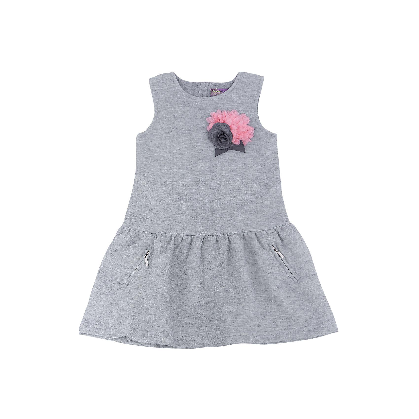 Сарафан для девочки Sweet BerryПлатья и сарафаны<br>Сарафан – модная разновидность платья, которая напоминает о лете в холодную погоду. Теплый трикотажный сарафан – отличная вещь, чтобы согреться и выглядеть стильно. Модель выполнена из плотного материала, с возможностью надевать под нее водолазку, что прекрасно подойдет в качестве варианта школьной формы. Цвет сарафана сочетается практически с любыми вещами и позволяет создать множество стильных образов. Материалы, использованные при изготовлении одежды, полностью безопасны для детей и отвечают всем требованиям по качеству продукции данной категории.<br><br>Дополнительная информация: <br><br>аксессуар - цветок;<br>расклешенная юбка;<br>2 кармана;<br>цвет: серый;<br>материал: хлопок 65%, полиэстер 35%.<br><br>Сарафан для девочки от компании Sweet Berry можно приобрести в нашем магазине.<br><br>Ширина мм: 236<br>Глубина мм: 16<br>Высота мм: 184<br>Вес г: 177<br>Цвет: серый<br>Возраст от месяцев: 24<br>Возраст до месяцев: 36<br>Пол: Женский<br>Возраст: Детский<br>Размер: 98,104,110,116,122,128<br>SKU: 4931932