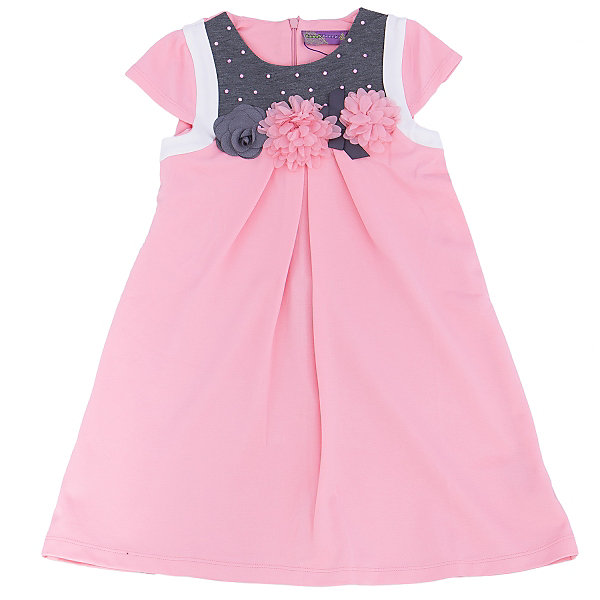 Платье для девочки Sweet BerryПлатья и сарафаны<br>Нежное платье из новой коллекции фирмы Sweet Berry – романтичная модель для не менее романтичной девочки. Основной цвет – бледно розовый. Платье дополнено контрастными деталями серого цвета. На лифе платье прикреплены трикотажные цветы и приклеены розовые стразы. Цвет платья сочетается практически с любыми вещами и позволяет создать множество стильных образов. Материалы, использованные при изготовлении одежды, полностью безопасны для детей и отвечают всем требованиям по качеству продукции данной категории.<br><br>Дополнительная информация: <br><br>расклешенная юбка;<br>2 кармана;<br>цвет: розовый;<br>материал: хлопок 95%, эластан 5%.<br><br>Платье для девочки от компании Sweet Berry можно приобрести в нашем магазине.<br>Ширина мм: 236; Глубина мм: 16; Высота мм: 184; Вес г: 177; Цвет: розовый; Возраст от месяцев: 24; Возраст до месяцев: 36; Пол: Женский; Возраст: Детский; Размер: 98,104,128,122,116,110; SKU: 4931939;