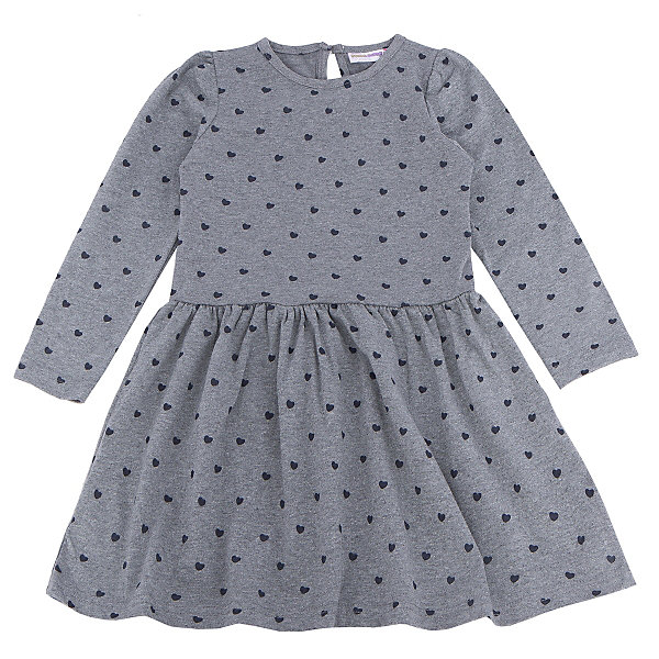 Платье для девочки Sweet BerryПлатья и сарафаны<br>Платье – та вещь, которая обязательно должна присутствовать в гардеробе каждой девочки. Нежное платье из новой коллекции фирмы Sweet Berry – романтичная модель для не менее романтичной девочки. Юбка у платья расклешена и имеет сборку в уровне шва. На всем платье присутствует принт «сердечко». Цвет платья сочетается практически с любыми вещами и позволяет создать множество стильных образов. Материалы, использованные при изготовлении одежды, полностью безопасны для детей и отвечают всем требованиям по качеству продукции данной категории.<br><br>Дополнительная информация: <br><br>расклешенная юбка;<br>принт «сердечко»;<br>цвет: темно-серый;<br>материал: хлопок 95%, эластан 5%.<br><br>Платье для девочки от компании Sweet Berry можно приобрести в нашем магазине.<br><br>Ширина мм: 236<br>Глубина мм: 16<br>Высота мм: 184<br>Вес г: 177<br>Цвет: серый<br>Возраст от месяцев: 36<br>Возраст до месяцев: 48<br>Пол: Женский<br>Возраст: Детский<br>Размер: 104,98,128,122,116,110<br>SKU: 4932056