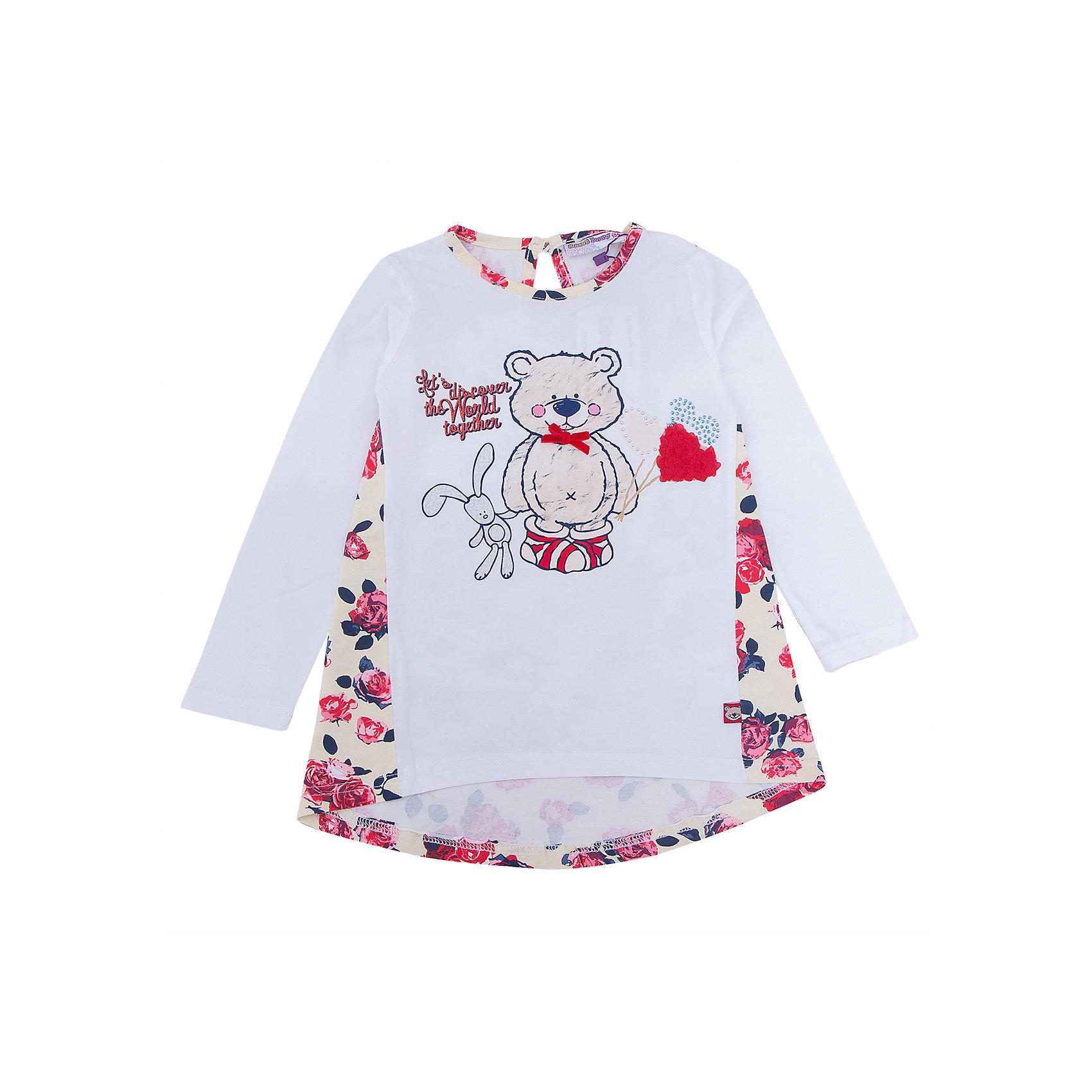 Футболка с длинным рукавом для девочки Sweet BerryФутболка с длинным рукавом – модная вещь, которая способна одновременно создать стильный образ и защитить от осенних холодов маленького ребенка. Удлиненная спинка, приятная к телу ткань и модный принт образуют уникальную футболку для девочки. Универсальный крой поможет создать множество образов. Материалы, использованные при изготовлении одежды, полностью безопасны для детей и отвечают всем требованиям по качеству продукции данной категории.<br><br>Дополнительная информация: <br><br>удлиненная спинка;<br>модный принт;<br>прямой силуэт;<br>цвет: бежевый;<br>материал: хлопок 95%, эластан 5%.<br><br>Футболку с длинным рукавом для девочки от компании Sweet Berry можно приобрести в нашем магазине.<br><br>Ширина мм: 230<br>Глубина мм: 40<br>Высота мм: 220<br>Вес г: 250<br>Цвет: бежевый<br>Возраст от месяцев: 36<br>Возраст до месяцев: 48<br>Пол: Женский<br>Возраст: Детский<br>Размер: 104,98,128,122,116,110<br>SKU: 4932124