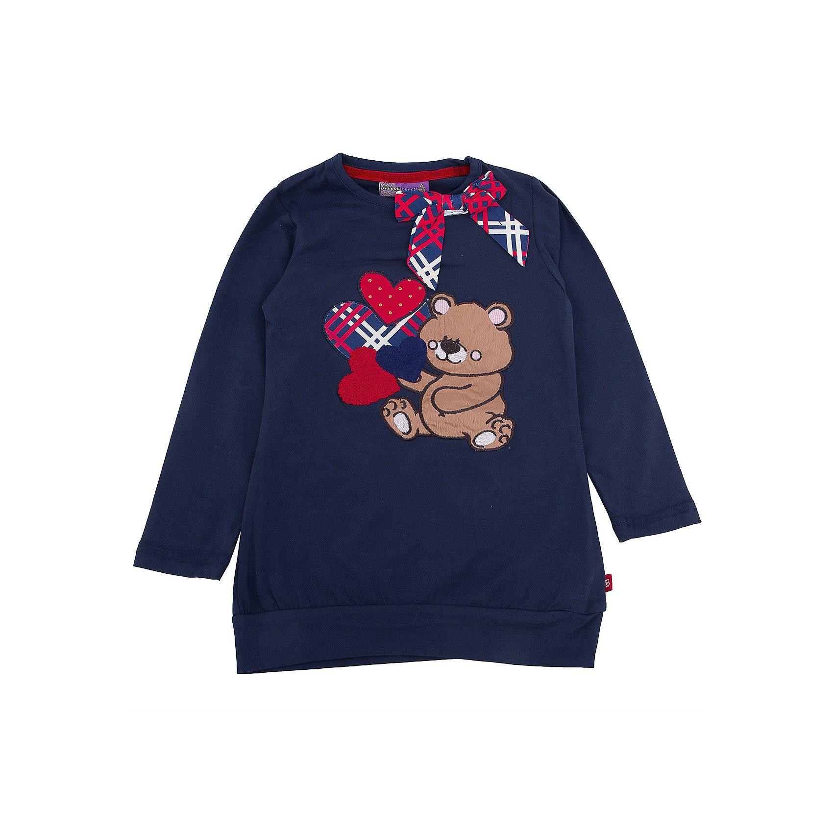Футболка с длинным рукавом для девочки Sweet BerryФутболка с длинным рукавом – модная вещь, которая способна одновременно создать стильный образ и защитить от осенних холодов маленького ребенка. Симпатичная аппликация с бантом – особенность модели из новой коллекции. Насыщенный цвет, не теряющий сочность со временем, приятная к телу ткань и модный принт образуют уникальную футболку для девочки. Универсальный крой поможет создать множество образов. Материалы, использованные при изготовлении одежды, полностью безопасны для детей и отвечают всем требованиям по качеству продукции данной категории.<br><br>Дополнительная информация: <br><br>аппликация с бантом;<br>прямой силуэт;<br>цвет: синий;<br>материал: хлопок 95%, эластан 5%.<br><br>Футболку с длинным рукавом для девочки от компании Sweet Berry можно приобрести в нашем магазине.<br><br>Ширина мм: 230<br>Глубина мм: 40<br>Высота мм: 220<br>Вес г: 250<br>Цвет: синий<br>Возраст от месяцев: 36<br>Возраст до месяцев: 48<br>Пол: Женский<br>Возраст: Детский<br>Размер: 104,98,128,122,116,110<br>SKU: 4932145