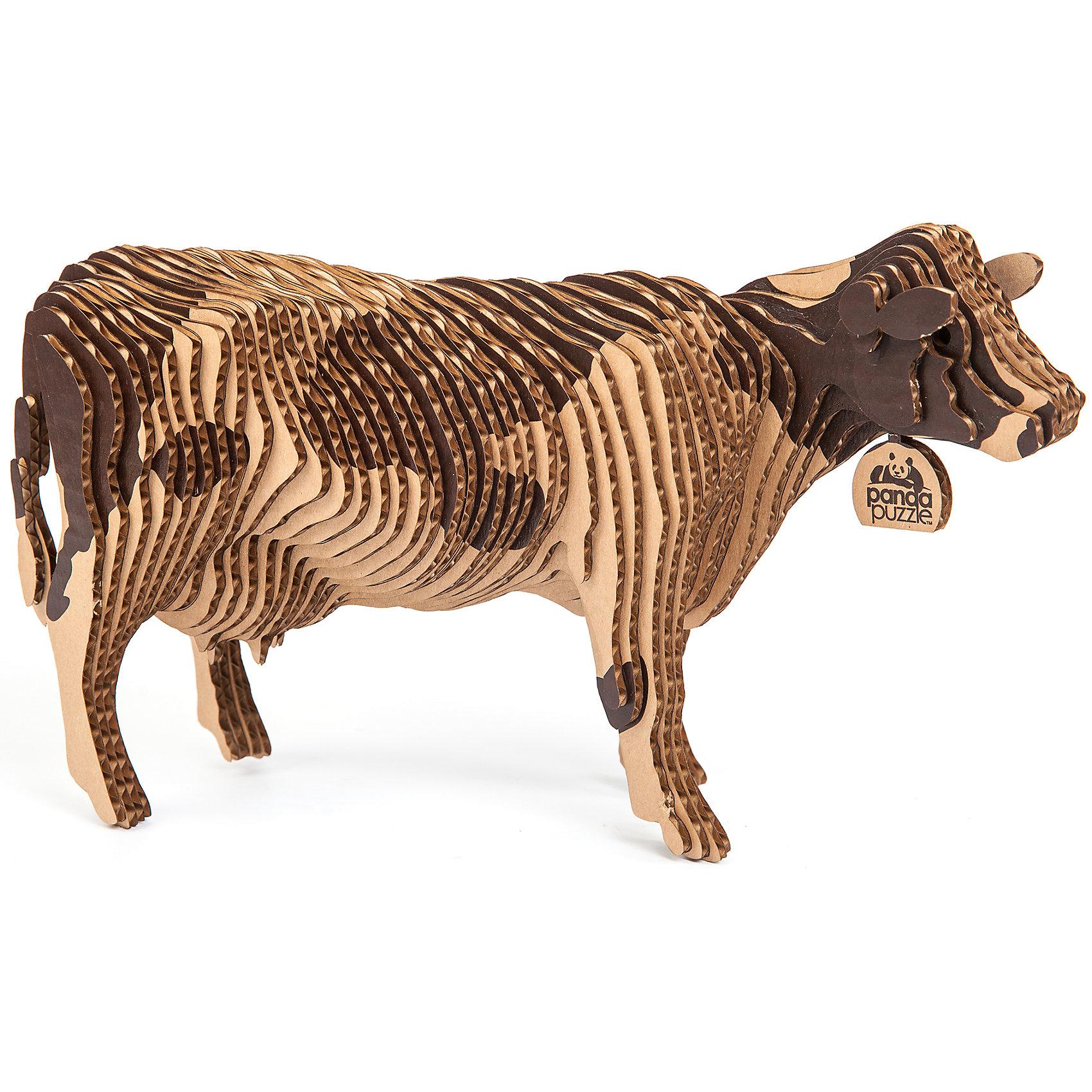 3D-Пазл «Корова», PandaPuzzle3D пазлы<br>3D-Пазл «Корова», PandaPuzzle ? головоломка от отечественного торгового бренда, который специализируется на выпуске трехмерных пазлов разной тематики. Все пазлы от PandaPuzzle выполнены из экологически безопасных материалов, имеют продуманный и реалистичный дизайн моделей. Выполненные из гофрокартона детали пазла отличаются легким весом и высокими физическими качествами: плотностью и жесткостью. Модель собирается в технике объемного квиллинга, что подразумевает склеивание деталей пазла между собой.  Собирая модели в данной технике, у ребенка развивается логическое мышление и мелкая моторика рук, тренируется зрительная память и внимательность. В каждый набор входит клей для склеивания деталей и инструкция по сбору модели. <br>3D-Пазл «Корова», PandaPuzzle упакован в стилизованную картонную коробку.<br><br>Дополнительная информация:<br><br>- Вид игр: игры-головоломки, сюжетно-ролевые<br>- Предназначение: для дома, для развивающих центров, для центров дополнительного образования<br>- Материал: гофрокартон<br>- Комплектация: 58 деталей, клей, инструкция<br>- Размер (Д*Ш*В): 43,5*6,7*26,5 см<br>- Вес: 550 г <br>- Пол: для мальчика/для девочки<br>- Особенности ухода: разрешается сухая чистка собранной модели<br><br>Подробнее:<br><br>• Для детей в возрасте: от 5 лет и до 16 лет<br>• Страна производитель: Россия<br>• Торговый бренд: PandaPuzzle<br><br>3D-Пазл «Корова», PandaPuzzle можно купить в нашем интернет-магазине.<br><br>Ширина мм: 435<br>Глубина мм: 67<br>Высота мм: 265<br>Вес г: 550<br>Возраст от месяцев: 60<br>Возраст до месяцев: 192<br>Пол: Унисекс<br>Возраст: Детский<br>SKU: 4932387