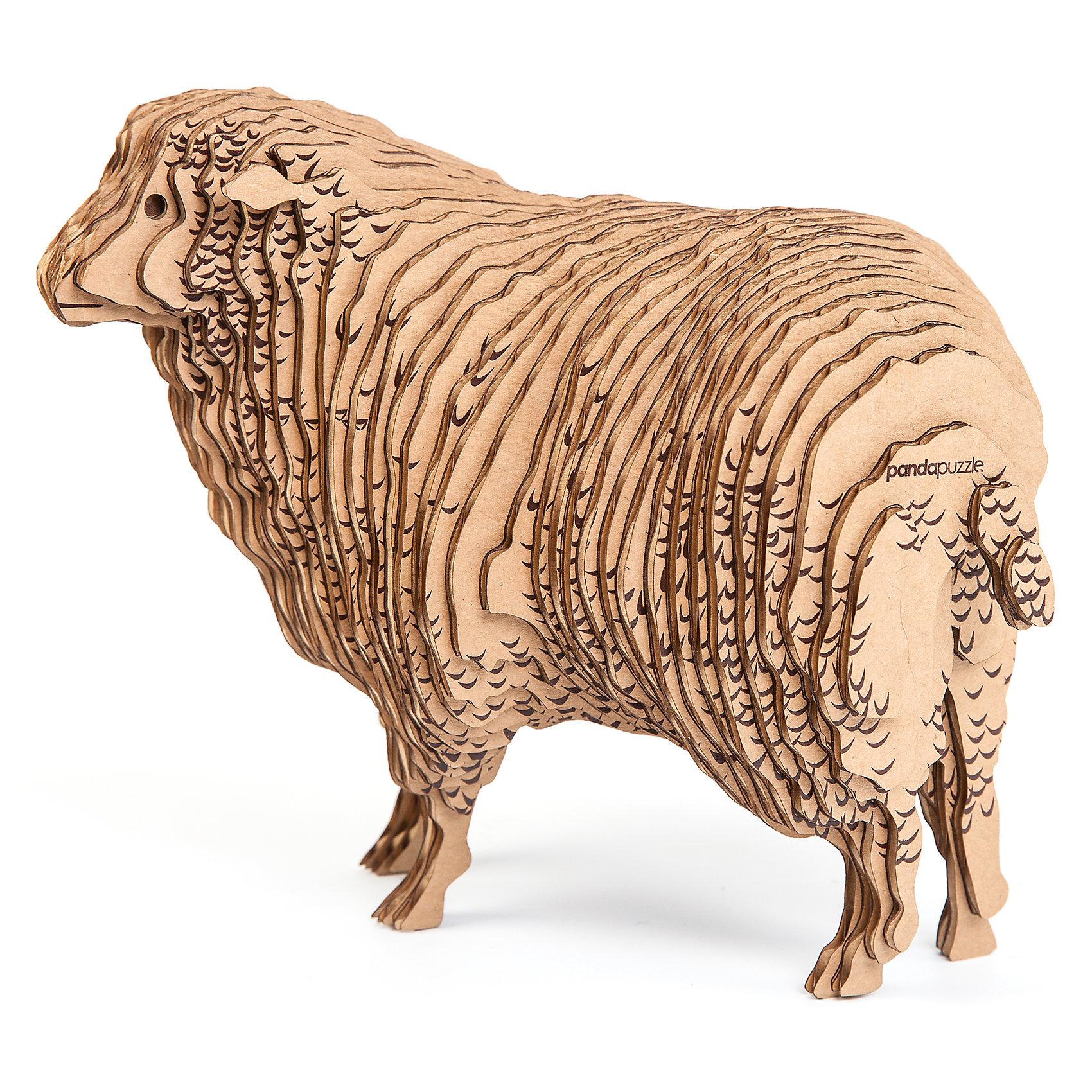 3D-Пазл «Овца», PandaPuzzleДеревянные пазлы<br>3D-Пазл «Овца», PandaPuzzle ? головоломка от отечественного торгового бренда, который специализируется на выпуске трехмерных пазлов разной тематики. Все пазлы от PandaPuzzle выполнены из экологически безопасных материалов, имеют продуманный и реалистичный дизайн моделей. Выполненные из гофрокартона детали пазла отличаются легким весом и высокими физическими качествами: плотностью и жесткостью. Модель собирается в технике объемного квиллинга, что подразумевает склеивание деталей пазла между собой.  Собирая модели в данной технике, у ребенка развивается логическое мышление и мелкая моторика рук, тренируется зрительная память и внимательность. В каждый набор входит клей для склеивания деталей и инструкция по сбору модели. <br>3D-Пазл «Овца», PandaPuzzle упакован в стилизованную картонную коробку.<br><br>Дополнительная информация:<br><br>- Вид игр: игры-головоломки, сюжетно-ролевые<br>- Предназначение: для дома, для развивающих центров, для центров дополнительного образования<br>- Материал: гофрокартон<br>- Комплектация: 48 деталей, клей, инструкция<br>- Размер (Д*Ш*В): 43,5*6,7*26,5 см<br>- Вес: 580 г <br>- Пол: для мальчика/для девочки<br>- Особенности ухода: разрешается сухая чистка собранной модели<br><br>Подробнее:<br><br>• Для детей в возрасте: от 5 лет и до 16 лет<br>• Страна производитель: Россия<br>• Торговый бренд: PandaPuzzle<br><br>3D-Пазл «Овца», PandaPuzzle можно купить в нашем интернет-магазине.<br><br>Ширина мм: 435<br>Глубина мм: 67<br>Высота мм: 265<br>Вес г: 580<br>Возраст от месяцев: 60<br>Возраст до месяцев: 192<br>Пол: Унисекс<br>Возраст: Детский<br>SKU: 4932388