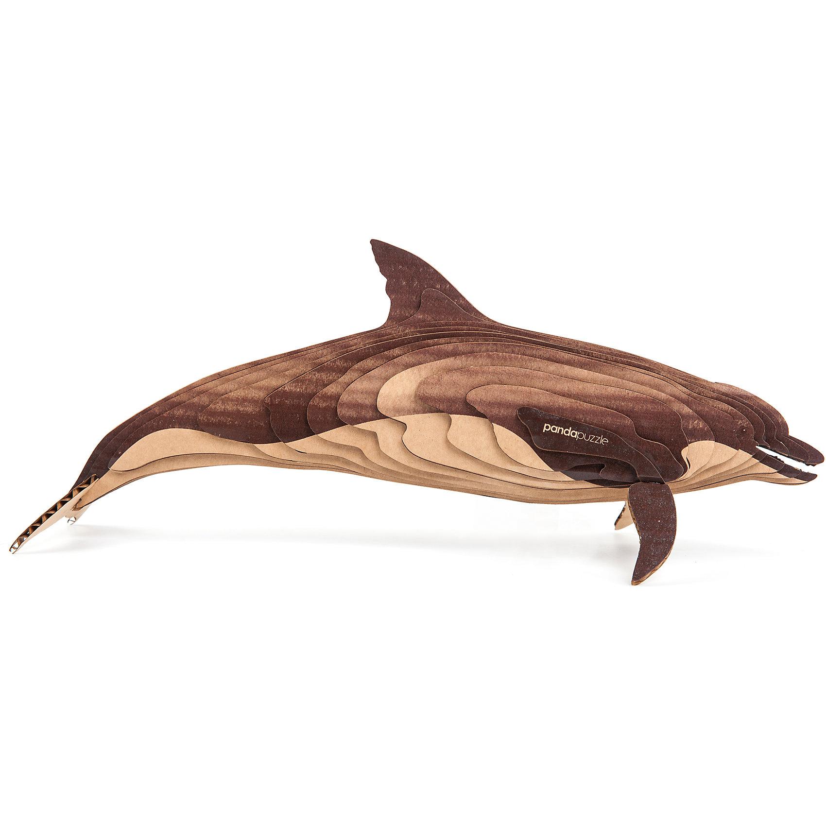 3D-Пазл «Дельфин», PandaPuzzleДеревянные пазлы<br>3D-Пазл «Дельфин», PandaPuzzle ? головоломка от отечественного торгового бренда, который специализируется на выпуске трехмерных пазлов разной тематики. Все пазлы от PandaPuzzle выполнены из экологически безопасных материалов, имеют продуманный и реалистичный дизайн моделей. Выполненные из гофрокартона детали пазла отличаются легким весом и высокими физическими качествами: плотностью и жесткостью. Модель собирается в технике объемного квиллинга, что подразумевает склеивание деталей пазла между собой.  Собирая модели в данной технике, у ребенка развивается логическое мышление и мелкая моторика рук, тренируется зрительная память и внимательность. В каждый набор входит клей для склеивания деталей и инструкция по сбору модели. <br>3D-Пазл «Дельфин», PandaPuzzle упакован в стилизованную картонную коробку.<br><br>Дополнительная информация:<br><br>- Вид игр: игры-головоломки, сюжетно-ролевые<br>- Предназначение: для дома, для развивающих центров, для центров дополнительного образования<br>- Материал: гофрокартон<br>- Комплектация: 23 детали, клей, инструкция<br>- Размер (Д*Ш*В): 43,5*6,7*26,5 см<br>- Вес: 450 г <br>- Пол: для мальчика/для девочки<br>- Особенности ухода: разрешается сухая чистка собранной модели<br><br>Подробнее:<br><br>• Для детей в возрасте: от 5 лет и до 16 лет<br>• Страна производитель: Россия<br>• Торговый бренд: PandaPuzzle<br><br>3D-Пазл «Дельфин», PandaPuzzle можно купить в нашем интернет-магазине.<br><br>Ширина мм: 435<br>Глубина мм: 67<br>Высота мм: 265<br>Вес г: 450<br>Возраст от месяцев: 60<br>Возраст до месяцев: 192<br>Пол: Унисекс<br>Возраст: Детский<br>SKU: 4932389