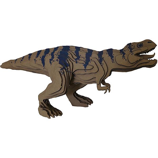 3D-Пазл «Тираннозавр» большой, PandaPuzzleКартонные модели<br>3D-Пазл «Тираннозавр», большой PandaPuzzle ? головоломка от отечественного торгового бренда, который специализируется на выпуске трехмерных пазлов разной тематики. Все пазлы от PandaPuzzle выполнены из экологически безопасных материалов, имеют продуманный и реалистичный дизайн моделей. Выполненные из гофрокартона детали пазла отличаются легким весом и высокими физическими качествами: плотностью и жесткостью. Модель собирается в технике объемного квиллинга, что подразумевает склеивание деталей пазла между собой.  Собирая модели в данной технике, у ребенка развивается логическое мышление и мелкая моторика рук, тренируется зрительная память и внимательность. В каждый набор входит клей для склеивания деталей и инструкция по сбору модели. <br>3D-Пазл «Тираннозавр», большой PandaPuzzle упакован в стилизованную картонную коробку.<br><br>Дополнительная информация:<br><br>- Вид игр: игры-головоломки, сюжетно-ролевые<br>- Предназначение: для дома, для развивающих центров, для центров дополнительного образования<br>- Материал: гофрокартон<br>- Комплектация: 52 детали, клей, инструкция<br>- Размер (Д*Ш*В): 43,5*6,7*26,5 см<br>- Вес: 441 г <br>- Пол: для мальчика/для девочки<br>- Особенности ухода: разрешается сухая чистка собранной модели<br><br>Подробнее:<br><br>• Для детей в возрасте: от 5 лет и до 16 лет<br>• Страна производитель: Россия<br>• Торговый бренд: PandaPuzzle<br><br>3D-Пазл «Тираннозавр», большой PandaPuzzle можно купить в нашем интернет-магазине.<br><br>Ширина мм: 435<br>Глубина мм: 67<br>Высота мм: 265<br>Вес г: 441<br>Возраст от месяцев: 60<br>Возраст до месяцев: 192<br>Пол: Унисекс<br>Возраст: Детский<br>SKU: 4932392