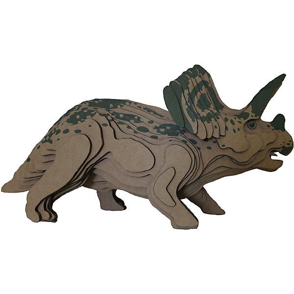 3D-Пазл «Торозавр» большой, PandaPuzzleМодели из бумаги<br>3D-Пазл «Торозавр», большой PandaPuzzle ? головоломка от отечественного торгового бренда, который специализируется на выпуске трехмерных пазлов разной тематики. Все пазлы от PandaPuzzle выполнены из экологически безопасных материалов, имеют продуманный и реалистичный дизайн моделей. Выполненные из гофрокартона детали пазла отличаются легким весом и высокими физическими качествами: плотностью и жесткостью. Модель собирается в технике объемного квиллинга, что подразумевает склеивание деталей пазла между собой.  Собирая модели в данной технике, у ребенка развивается логическое мышление и мелкая моторика рук, тренируется зрительная память и внимательность. В каждый набор входит клей для склеивания деталей и инструкция по сбору модели. <br>3D-Пазл «Торозавр», большой PandaPuzzle упакован в стилизованную картонную коробку.<br><br>Дополнительная информация:<br><br>- Вид игр: игры-головоломки, сюжетно-ролевые<br>- Предназначение: для дома, для развивающих центров, для центров дополнительного образования<br>- Материал: гофрокартон<br>- Комплектация: 44 детали, клей, инструкция<br>- Размер (Д*Ш*В): 43,5*6,7*26,5 см<br>- Вес: 502 г <br>- Пол: для мальчика/для девочки<br>- Особенности ухода: разрешается сухая чистка собранной модели<br><br>Подробнее:<br><br>• Для детей в возрасте: от 5 лет и до 16 лет<br>• Страна производитель: Россия<br>• Торговый бренд: PandaPuzzle<br><br>3D-Пазл «Торозавр», большой PandaPuzzle можно купить в нашем интернет-магазине.<br><br>Ширина мм: 435<br>Глубина мм: 67<br>Высота мм: 265<br>Вес г: 502<br>Возраст от месяцев: 60<br>Возраст до месяцев: 192<br>Пол: Унисекс<br>Возраст: Детский<br>SKU: 4932394