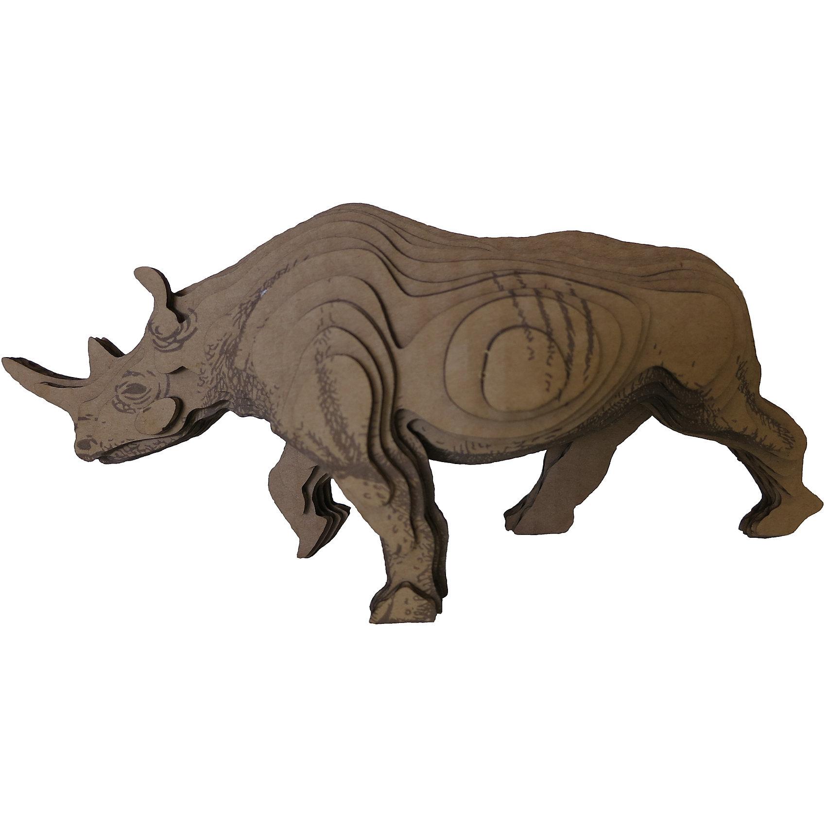 3D-Пазл «Носорог», PandaPuzzleДеревянные пазлы<br>3D-Пазл «Носорог», PandaPuzzle ? головоломка от отечественного торгового бренда, который специализируется на выпуске трехмерных пазлов разной тематики. Все пазлы от PandaPuzzle выполнены из экологически безопасных материалов, имеют продуманный и реалистичный дизайн моделей. Выполненные из гофрокартона детали пазла отличаются легким весом и высокими физическими качествами: плотностью и жесткостью. Модель собирается в технике объемного квиллинга, что подразумевает склеивание деталей пазла между собой.  Собирая модели в данной технике, у ребенка развивается логическое мышление и мелкая моторика рук, тренируется зрительная память и внимательность. В каждый набор входит клей для склеивания деталей и инструкция по сбору модели. <br>3D-Пазл «Носорог», PandaPuzzle упакован в стилизованную картонную коробку.<br><br>Дополнительная информация:<br><br>- Вид игр: игры-головоломки, сюжетно-ролевые<br>- Предназначение: для дома, для развивающих центров, для центров дополнительного образования<br>- Материал: гофрокартон<br>- Комплектация: 38 деталей, клей, инструкция<br>- Размер (Д*Ш*В): 19,5*9*26 см<br>- Вес: 227 г <br>- Пол: для мальчика/для девочки<br>- Особенности ухода: разрешается сухая чистка собранной модели<br><br>Подробнее:<br><br>• Для детей в возрасте: от 5 лет и до 16 лет<br>• Страна производитель: Россия<br>• Торговый бренд: PandaPuzzle<br><br>3D-Пазл «Носорог», PandaPuzzle можно купить в нашем интернет-магазине.<br><br>Ширина мм: 195<br>Глубина мм: 90<br>Высота мм: 260<br>Вес г: 227<br>Возраст от месяцев: 60<br>Возраст до месяцев: 192<br>Пол: Унисекс<br>Возраст: Детский<br>SKU: 4932398