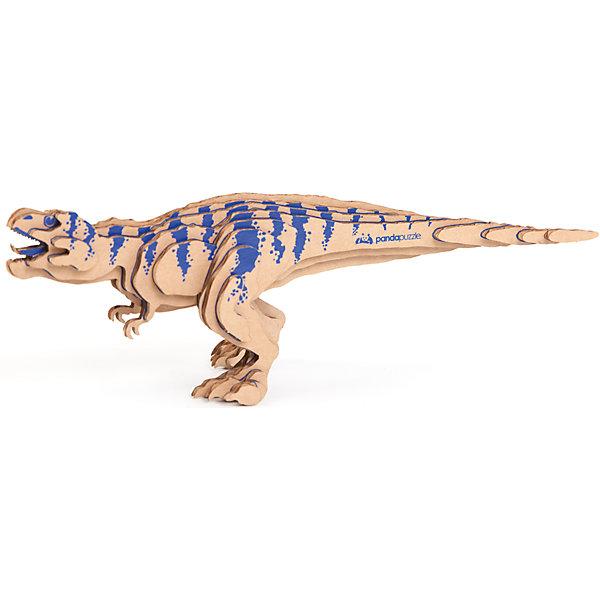 3D-Пазл «Тираннозавр», PandaPuzzle3D пазлы<br>3D-Пазл «Тираннозавр», PandaPuzzle ? головоломка от отечественного торгового бренда, который специализируется на выпуске трехмерных пазлов разной тематики. Все пазлы от PandaPuzzle выполнены из экологически безопасных материалов, имеют продуманный и реалистичный дизайн моделей. Выполненные из гофрокартона детали пазла отличаются легким весом и высокими физическими качествами: плотностью и жесткостью. Модель собирается в технике объемного квиллинга, что подразумевает склеивание деталей пазла между собой.  Собирая модели в данной технике, у ребенка развивается логическое мышление и мелкая моторика рук, тренируется зрительная память и внимательность. В каждый набор входит клей для склеивания деталей и инструкция по сбору модели. <br>3D-Пазл «Тираннозавр», PandaPuzzle упакован в стилизованную картонную коробку.<br><br>Дополнительная информация:<br><br>- Вид игр: игры-головоломки, сюжетно-ролевые<br>- Предназначение: для дома, для развивающих центров, для центров дополнительного образования<br>- Материал: гофрокартон<br>- Комплектация: 26 деталей, клей, инструкция<br>- Размер (Д*Ш*В): 11*5*26 см<br>- Вес: 90 г <br>- Пол: для мальчика/для девочки<br>- Особенности ухода: разрешается сухая чистка собранной модели<br><br>Подробнее:<br><br>• Для детей в возрасте: от 5 лет и до 16 лет<br>• Страна производитель: Россия<br>• Торговый бренд: PandaPuzzle<br><br>3D-Пазл «Тираннозавр», PandaPuzzle можно купить в нашем интернет-магазине.<br><br>Ширина мм: 110<br>Глубина мм: 50<br>Высота мм: 260<br>Вес г: 90<br>Возраст от месяцев: 60<br>Возраст до месяцев: 192<br>Пол: Унисекс<br>Возраст: Детский<br>SKU: 4932400