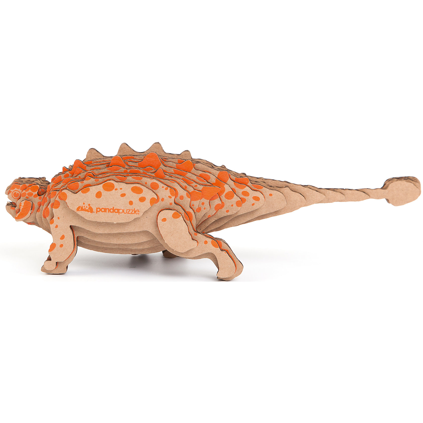 3D-Пазл «Анкилозавр», PandaPuzzle3D-Пазл «Анкилозавр», PandaPuzzle ? головоломка от отечественного торгового бренда, который специализируется на выпуске трехмерных пазлов разной тематики. Все пазлы от PandaPuzzle выполнены из экологически безопасных материалов, имеют продуманный и реалистичный дизайн моделей. Выполненные из гофрокартона детали пазла отличаются легким весом и высокими физическими качествами: плотностью и жесткостью. Модель собирается в технике объемного квиллинга, что подразумевает склеивание деталей пазла между собой.  Собирая модели в данной технике, у ребенка развивается логическое мышление и мелкая моторика рук, тренируется зрительная память и внимательность. В каждый набор входит клей для склеивания деталей и инструкция по сбору модели. <br>3D-Пазл «Анкилозавр», PandaPuzzle упакован в стилизованную картонную коробку.<br><br>Дополнительная информация:<br><br>- Вид игр: игры-головоломки, сюжетно-ролевые<br>- Предназначение: для дома, для развивающих центров, для центров дополнительного образования<br>- Материал: гофрокартон<br>- Комплектация: 25 деталей, клей, инструкция<br>- Размер (Д*Ш*В): 11*5*26 см<br>- Вес: 96 г <br>- Пол: для мальчика/для девочки<br>- Особенности ухода: разрешается сухая чистка собранной модели<br><br>Подробнее:<br><br>• Для детей в возрасте: от 5 лет и до 16 лет<br>• Страна производитель: Россия<br>• Торговый бренд: PandaPuzzle<br><br>3D-Пазл «Анкилозавр», PandaPuzzle можно купить в нашем интернет-магазине.<br><br>Ширина мм: 110<br>Глубина мм: 50<br>Высота мм: 260<br>Вес г: 96<br>Возраст от месяцев: 60<br>Возраст до месяцев: 192<br>Пол: Унисекс<br>Возраст: Детский<br>SKU: 4932401