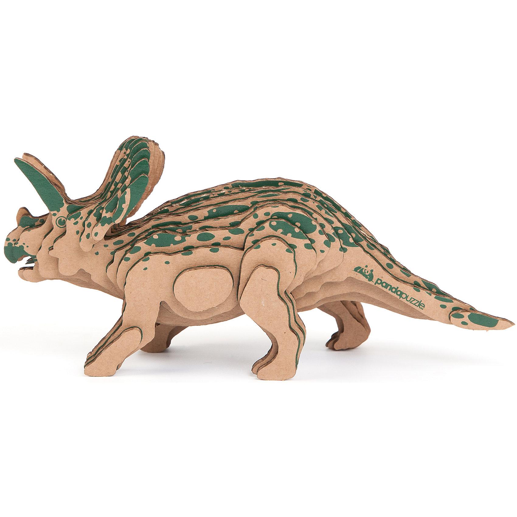 3D-Пазл «Торозавр», PandaPuzzle3D-Пазл «Торозавр», PandaPuzzle ? головоломка от отечественного торгового бренда, который специализируется на выпуске трехмерных пазлов разной тематики. Все пазлы от PandaPuzzle выполнены из экологически безопасных материалов, имеют продуманный и реалистичный дизайн моделей. Выполненные из гофрокартона детали пазла отличаются легким весом и высокими физическими качествами: плотностью и жесткостью. Модель собирается в технике объемного квиллинга, что подразумевает склеивание деталей пазла между собой.  Собирая модели в данной технике, у ребенка развивается логическое мышление и мелкая моторика рук, тренируется зрительная память и внимательность. В каждый набор входит клей для склеивания деталей и инструкция по сбору модели. <br>3D-Пазл «Торозавр», PandaPuzzle упакован в стилизованную картонную коробку.<br><br>Дополнительная информация:<br><br>- Вид игр: игры-головоломки, сюжетно-ролевые<br>- Предназначение: для дома, для развивающих центров, для центров дополнительного образования<br>- Материал: гофрокартон<br>- Комплектация: 30 деталей, клей, инструкция<br>- Размер (Д*Ш*В): 11*5*26 см<br>- Вес: 97 г <br>- Пол: для мальчика/для девочки<br>- Особенности ухода: разрешается сухая чистка собранной модели<br><br>Подробнее:<br><br>• Для детей в возрасте: от 5 лет и до 16 лет<br>• Страна производитель: Россия<br>• Торговый бренд: PandaPuzzle<br><br>3D-Пазл «Торозавр», PandaPuzzle можно купить в нашем интернет-магазине.<br><br>Ширина мм: 110<br>Глубина мм: 50<br>Высота мм: 260<br>Вес г: 97<br>Возраст от месяцев: 60<br>Возраст до месяцев: 192<br>Пол: Унисекс<br>Возраст: Детский<br>SKU: 4932405