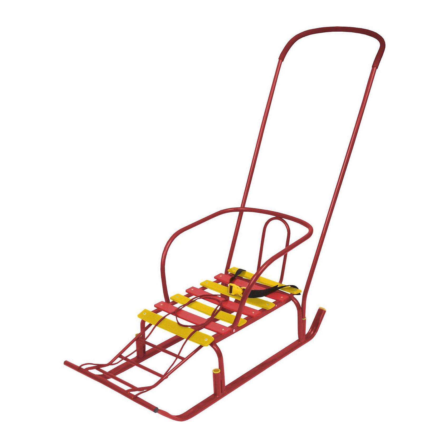 Санки детские Тимка 5, красныйСанки и снегокаты<br>Санки детские Тимка 5, красный,  произведены отечественным торговым брендом Ника. Санки выполнены в классическом исполнении: металлический каркас, широкие плоские полозья, высокая спинка – все эти элементы делают их удобными и безопасными.  Сани укомплектованы съемной ручкой, которая может устанавливаться в двух положениях. Кроме того, у них предусмотрена удлиненная ступенчатая подножка. Санки детские окрашены в яркие цвета: красный и желтый.<br>Санки детские Тимка 5, красный –  это комфорт и безопасность для ребенка и удобство для родителей.<br><br>Дополнительная информация:<br><br>- Предназначение: для зимних прогулок<br>- Материал: металл<br>- Пол: для девочки<br>- Максимальный вес: 25 кг<br>- Цвет: красный, желтый<br>- Размер (Д*Ш*В): 83*37*18 см<br>- Вес: 4 кг 100 г<br>- Особенности ухода: можно протирать влажной губкой<br><br>Подробнее:<br><br>• Для детей в возрасте: от 8 месяцев и до 4 лет<br>• Страна производитель: Россия<br>• Торговый бренд: Ника<br><br>Санки детские Тимка 5, красный, можно купить в нашем интернет-магазине.<br><br>Ширина мм: 830<br>Глубина мм: 370<br>Высота мм: 180<br>Вес г: 4100<br>Возраст от месяцев: -2147483648<br>Возраст до месяцев: 2147483647<br>Пол: Женский<br>Возраст: Детский<br>SKU: 4935351