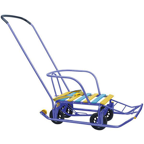 Санки детские Тимка 5-универсал, синийСанки и аксессуары<br>Санки детские Тимка 5-универсал, синий произведены отечественным торговым брендом Ника специально для зимних прогулок как по заснеженным тротуарам, так и по асфальтовому покрытию. Универсальность и удобство перемещения по разным покрытиям обеспечивает трансформирующийся механизм движения: полозья или прорезиненные колеса. Сами санки выполнены в классическом исполнении: металлический каркас, широкие плоские полозья, высокая спинка – все эти элементы делают их удобными и безопасными.  Сани укомплектованы съемной ручкой, которая может устанавливаться в двух положениях. Кроме того, у них предусмотрена удлиненная ступенчатая подножка. Для обеспечения безопасности пребывания ребенка в санках предусмотрен ремень, который крепится к спинке. Санки детские окрашены в яркие цвета: синий, желтый и голубой<br>Санки детские Тимка 5-универсал, синий –  это комфорт и безопасность для ребенка и удобство для родителей.<br><br>Дополнительная информация:<br><br>- Предназначение: для зимних прогулок<br>- Материал: металл, дерево, резина<br>- Пол: для мальчика<br>- Максимальный вес: 50 кг<br>- Цвет: синий, желтый, голубой<br>- Размер (Д*Ш*В): 83*37*19,5 см<br>- Вес: 5 кг 900 г<br>- Особенности ухода: можно протирать влажной губкой<br><br>Подробнее:<br><br>• Для детей в возрасте: от 8 месяцев и до 6 лет<br>• Страна производитель: Россия<br>• Торговый бренд: Ника<br><br>Санки детские Тимка 5-универсал, синий, можно купить в нашем интернет-магазине.<br>Ширина мм: 870; Глубина мм: 195; Высота мм: 370; Вес г: 5740; Возраст от месяцев: 12; Возраст до месяцев: 60; Пол: Мужской; Возраст: Детский; SKU: 4935355;