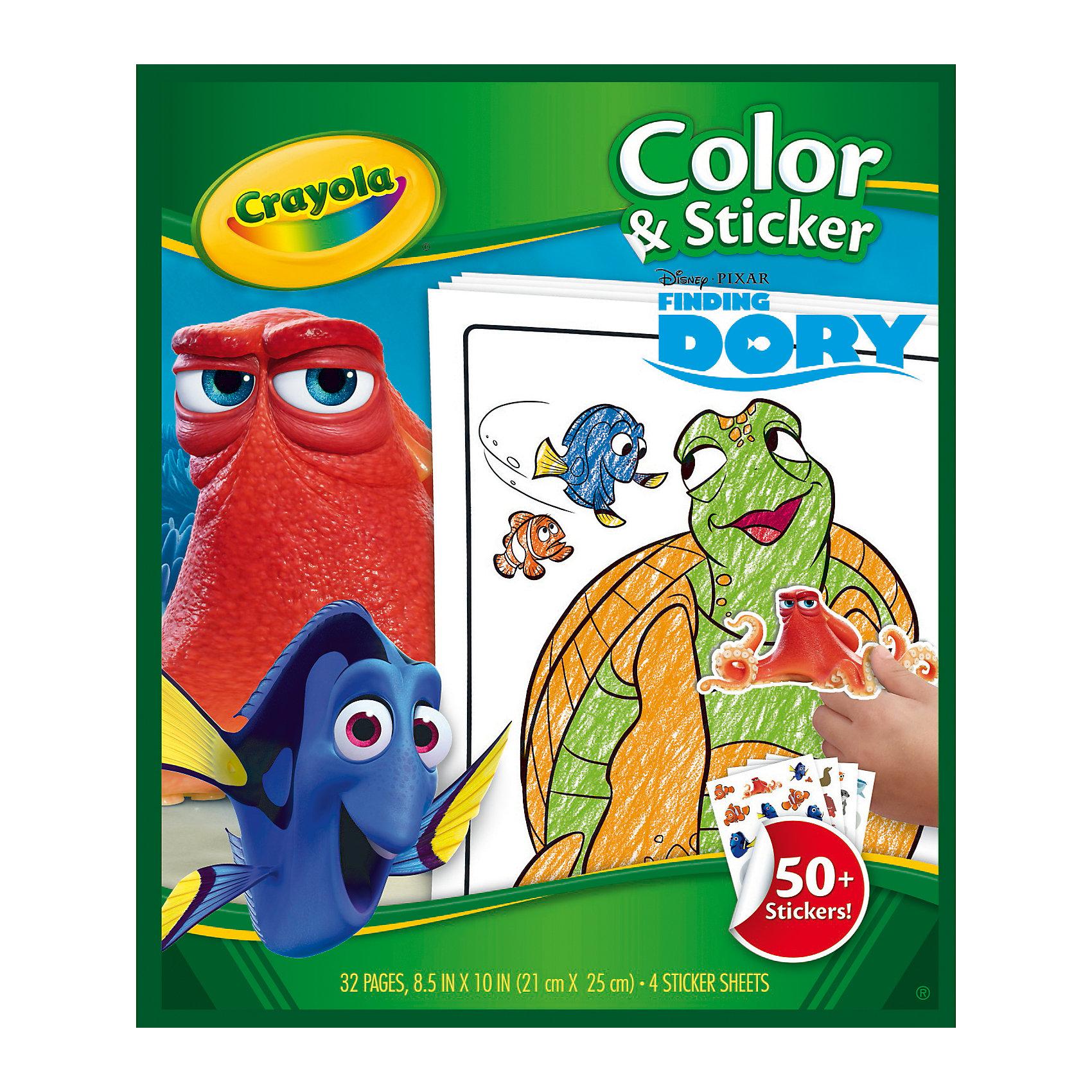 Раскраска с наклейками В поисках ДориВ поисках Дори<br>Раскраска с наклейками включает в себя 32 страницы с раскрасками и 4 дополнительных листа с яркими наклейками. Каждая картинка-это известные персонажи мультфильма В поисках Дори. Изделие выполнено из прочной и качественной бумаги, так что ребёнок сможет раскрашивать как карандашами, так и фломастерами. Наклейки можно приклеить в специальные места, которые ребёнок определит в соответствии с силуэтом. Раскрашивая картинки, ребёнок может изучать морской мир,что повлияет на его общее развитие. Вес раскраски небольшой(180 г), поэтому малыш сможет взять её с собой в путешествие или на прогулку. Раскраска с наклейками В поисках Дори принесет вашему ребёнку много положительных эмоций. Вы можете преобрести её в нашем интернет-магазине.<br><br>В набор входит:<br>-раскраска<br>-4 дополнительных листа (более 50 наклеек)<br><br>Дополнительная информация:<br>-Бренд:Crayola(Крайола)- бренд художественных изделий<br>-Возраст: от 3 лет<br>-Для мальчиков и девочек<br>-Состав: бумага.<br>-Количество страниц: 32.<br>-Размер раскраски: 30 х 1 х 20 см.<br>-Страна обладатель бренда: США.<br><br>Ширина мм: 330<br>Глубина мм: 10<br>Высота мм: 500<br>Вес г: 166<br>Возраст от месяцев: 36<br>Возраст до месяцев: 84<br>Пол: Унисекс<br>Возраст: Детский<br>SKU: 4936092
