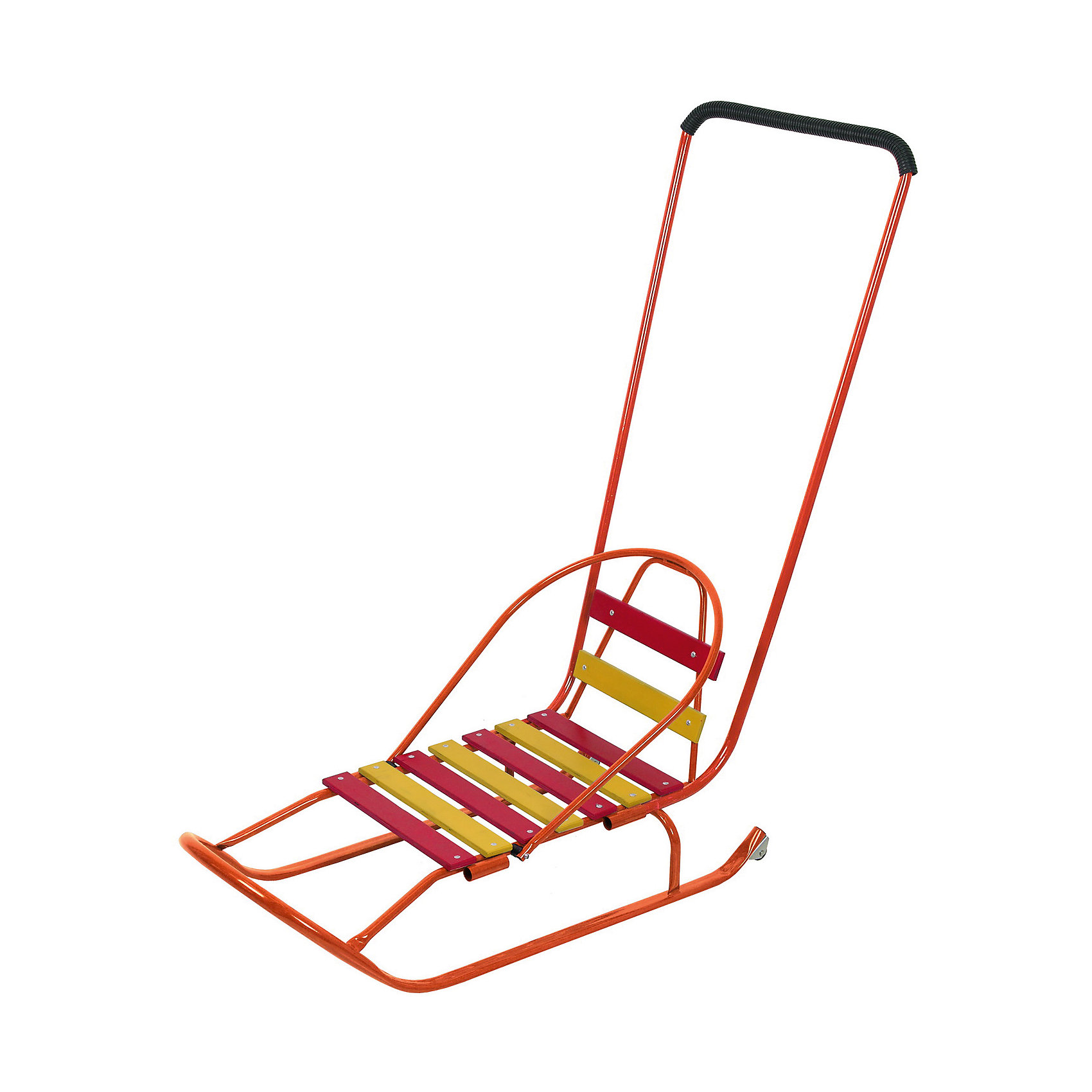 Санки Чемпион 2, оранжевыйСанки Чемпион 2, оранжевый произведены отечественным торговым брендом Фея. Санки выполнены в классическом исполнении: металлический каркас, широкие плоские полозья, которые обеспечивают удобство, безопасность и устойчивость при движении. Сидение и спинка выполнены из деревянных окрашенных реек. Сани оснащены толкателем, который устанавливается в двух положениях, и прочным шнуром. Детские санки окрашены в яркие цвета. Повышенная проходимость обеспечена за счет колесиков на краях полозьев. <br><br>Дополнительная информация:<br><br>- Предназначение: для зимних прогулок<br>- Материал: металл, дерево<br>- Пол: для мальчика/для девочки<br>- Максимальный вес: 50 кг<br>- Цвет: оранжевый, красный, желтый<br>- Размер (Д*Ш*В): 98,5*101,5*40,5 см<br>- Вес: 3 кг 700 г<br>- Особенности ухода: можно протирать влажной губкой<br><br>Подробнее:<br><br>• Для детей в возрасте: от 10 месяцев и до 24 месяцев<br>• Страна производитель: Россия<br>• Торговый бренд: Фея<br><br>Санки Чемпион 2, оранжевый можно купить в нашем интернет-магазине.<br><br>Ширина мм: 980<br>Глубина мм: 400<br>Высота мм: 1000<br>Вес г: 3700<br>Возраст от месяцев: 10<br>Возраст до месяцев: 24<br>Пол: Унисекс<br>Возраст: Детский<br>SKU: 4936383