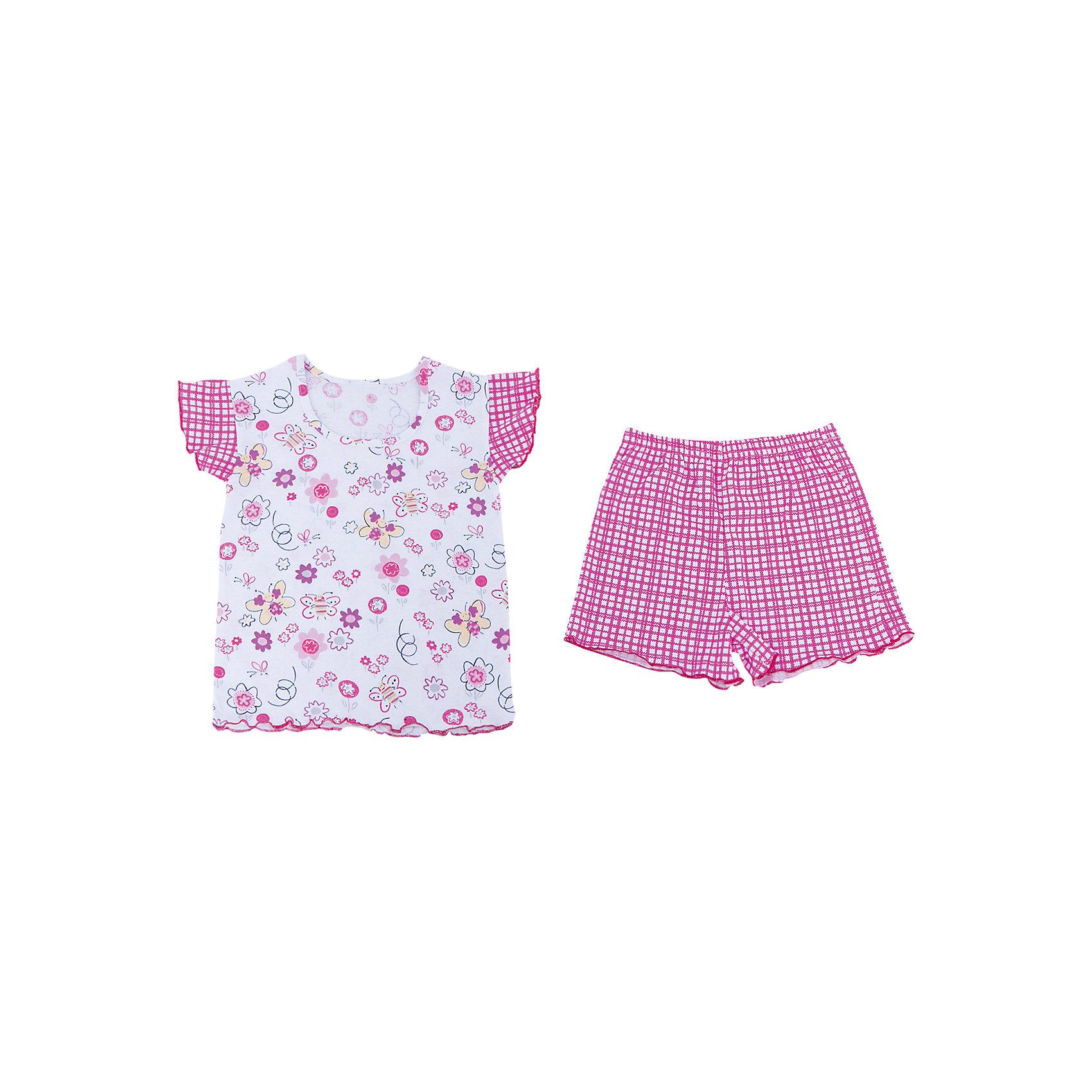 Пижама для девочки АпрельПижама для девочки Апрель.<br><br>Характеристики:<br>• состав: 100% хлопок<br>• цвет: розовый<br><br>Пижама для девочки от известной марки Апрель выполнена из мягкого хлопка, который подарит комфорт во время сна. Шортики и футболка имеют одинаковую расцветку в клетку. Футболка дополнена принтом с изображением бабочек. Рукава футболки дополнены рюшами. В этой пижаме девочка увидит самые прекрасные сны!<br><br>Пижаму для девочки Апрель вы можете купить в нашем интернет-магазине.<br><br>Ширина мм: 281<br>Глубина мм: 70<br>Высота мм: 188<br>Вес г: 295<br>Цвет: розовый<br>Возраст от месяцев: 60<br>Возраст до месяцев: 72<br>Пол: Женский<br>Возраст: Детский<br>Размер: 116,98,128,122,110,104<br>SKU: 4936731