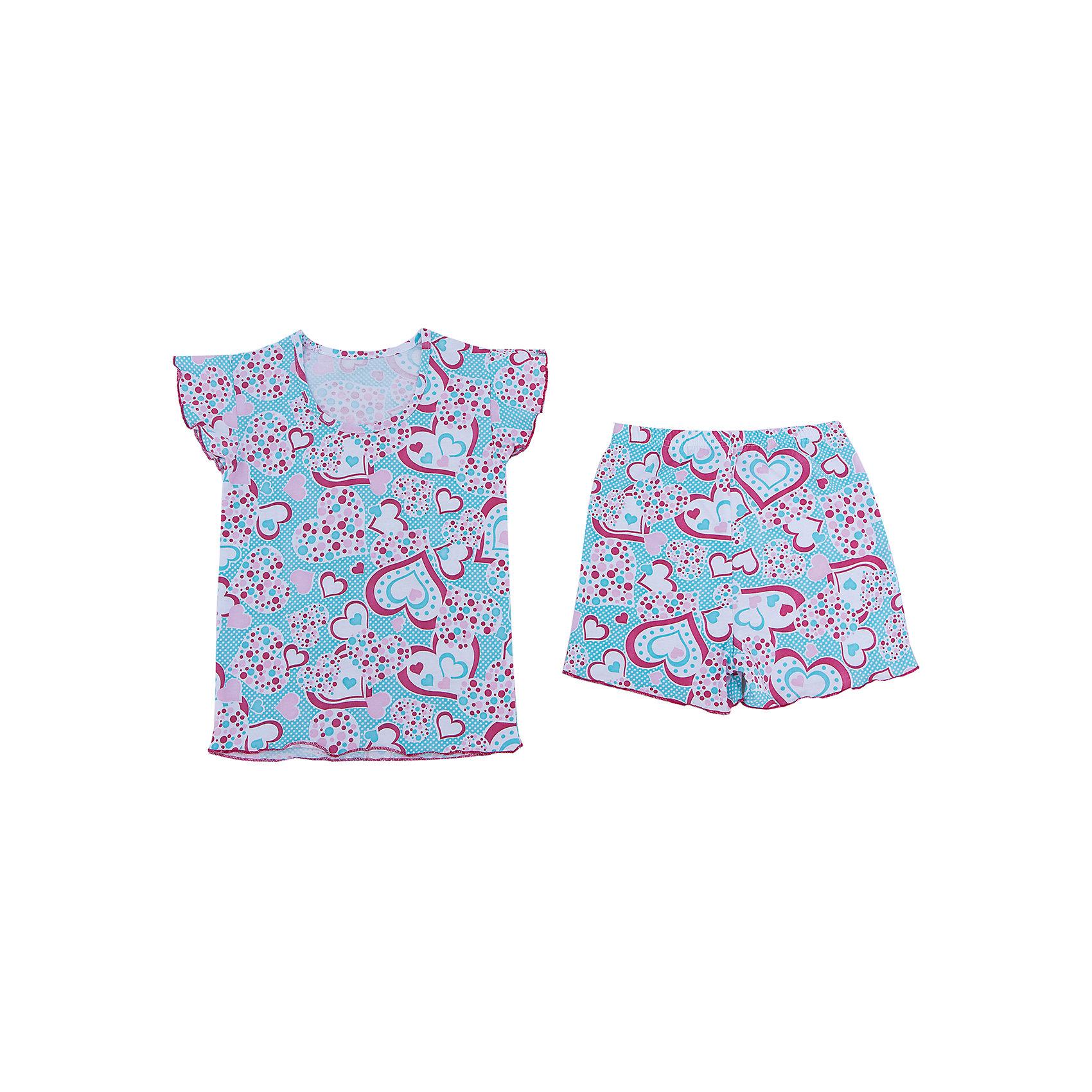 Пижама для девочки АпрельПижама для девочки Апрель.<br><br>Характеристики:<br>• состав: 100% хлопок<br>• цвет: розовый/голубой<br><br>Пижама для девочки от известной марки Апрель выполнена из мягкого хлопка, который подарит комфорт во время сна. Шортики и футболка имеют одинаковую расцветку в виде сердечек. Рукава футболки дополнены рюшами. В этой пижаме девочка увидит самые прекрасные сны!<br><br>Пижаму для девочки Апрель вы можете купить в нашем интернет-магазине.<br><br>Ширина мм: 281<br>Глубина мм: 70<br>Высота мм: 188<br>Вес г: 295<br>Цвет: розовый/голубой<br>Возраст от месяцев: 48<br>Возраст до месяцев: 60<br>Пол: Женский<br>Возраст: Детский<br>Размер: 110,146,104,116,122,128,134,140<br>SKU: 4936767