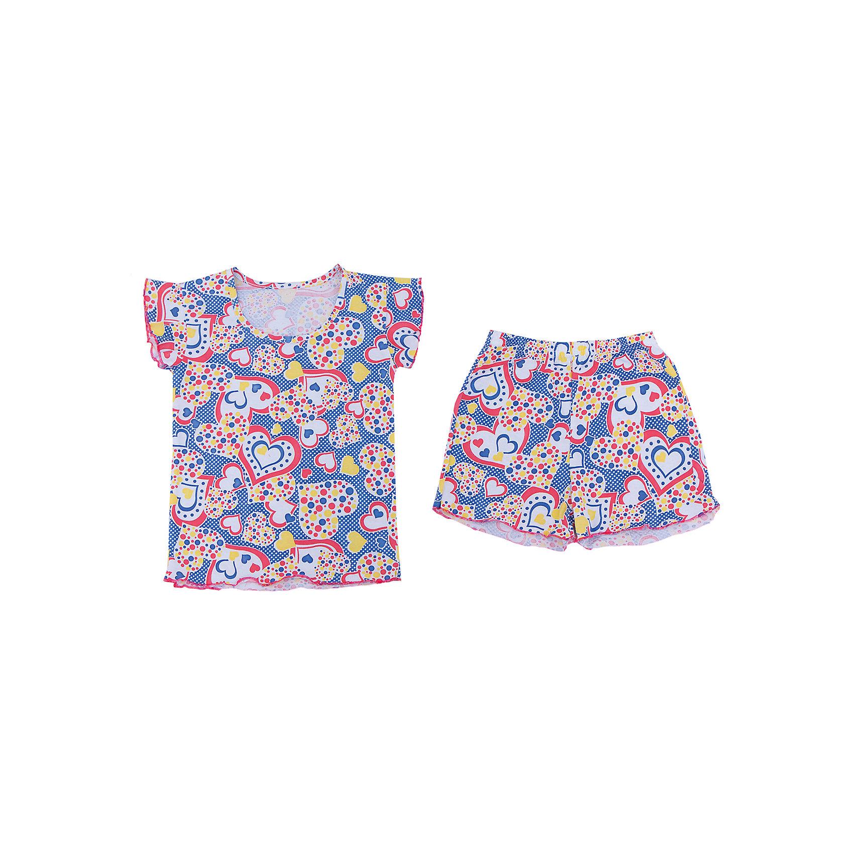 Пижама для девочки АпрельПижама для девочки Апрель.<br><br>Характеристики:<br>• состав: 100% хлопок<br>• цвет: синий/красный<br><br>Пижама для девочки от известной марки Апрель выполнена из мягкого хлопка, который подарит комфорт во время сна. Шортики и футболка имеют одинаковую расцветку в виде сердечек. Рукава футболки дополнены рюшами. В этой пижаме девочка увидит самые прекрасные сны!<br><br>Пижаму для девочки Апрель вы можете купить в нашем интернет-магазине.<br><br>Ширина мм: 281<br>Глубина мм: 70<br>Высота мм: 188<br>Вес г: 295<br>Цвет: синий/красный<br>Возраст от месяцев: 36<br>Возраст до месяцев: 48<br>Пол: Женский<br>Возраст: Детский<br>Размер: 104,110,116,122,128,134,140,146<br>SKU: 4936776
