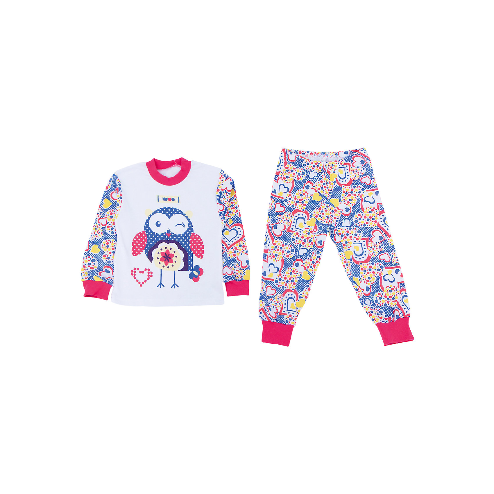 Пижама для девочки АпрельПижамы и сорочки<br>Пижама Апрель.<br><br>Характеристики:<br>• материал: хлопок<br>• цвет: синий<br><br>Яркая пижама от популярной марки Апрель выполнена из мягкого хлопка, приятного телу, что ребенок сможет оценить во время сна. Манжеты не позволят холодному воздуху проникнуть под одежду. Модель украшена ярким рисунком с сердечками и совой. В такой пижаме ваш ребенок увидит самые приятные и яркие сны!<br><br>Купить пижаму Апрель можно в нашем интернет-магазине.<br><br>Ширина мм: 281<br>Глубина мм: 70<br>Высота мм: 188<br>Вес г: 295<br>Цвет: белый/синий<br>Возраст от месяцев: 60<br>Возраст до месяцев: 72<br>Пол: Женский<br>Возраст: Детский<br>Размер: 116,92,98,104,110<br>SKU: 4936895