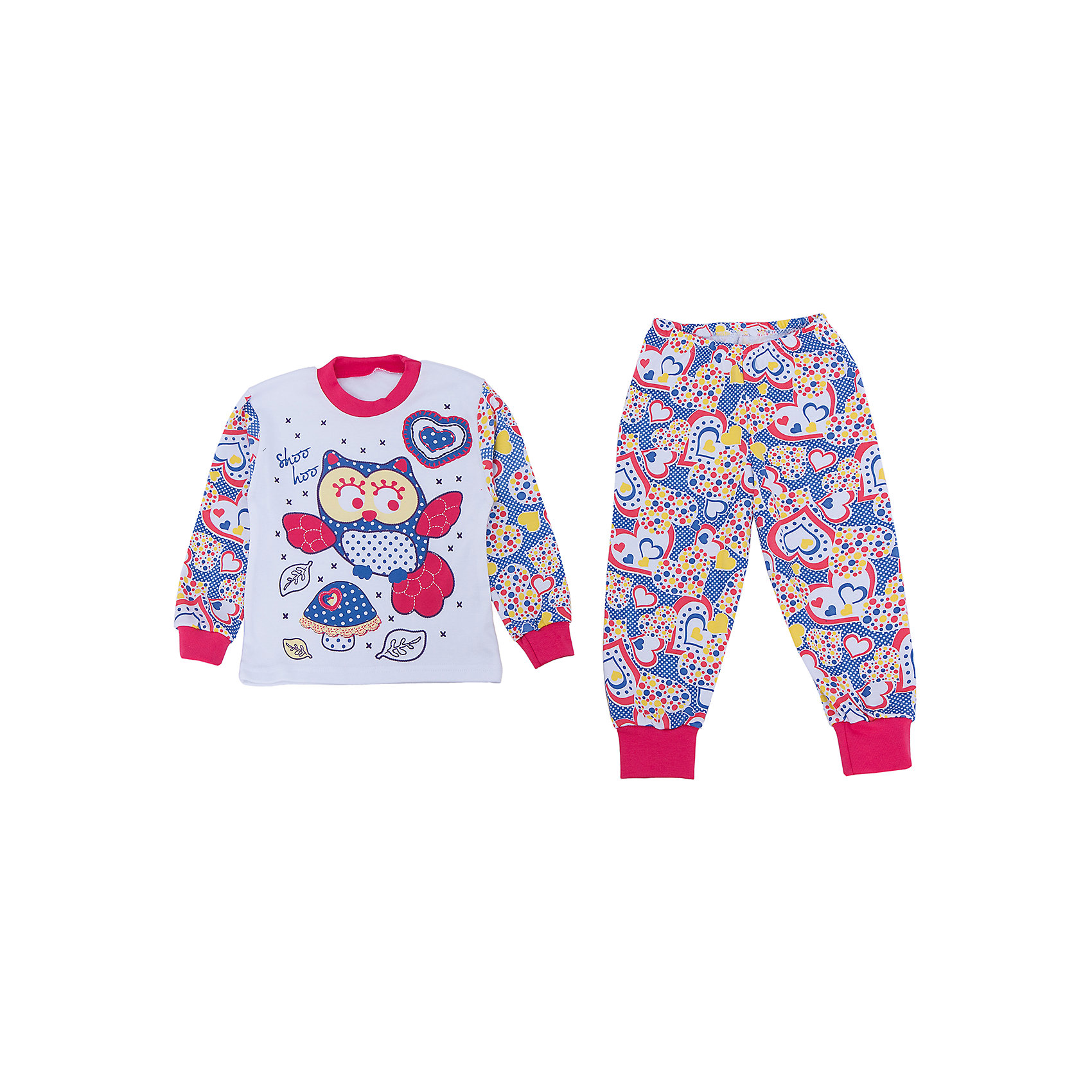 Пижама для девочки АпрельПижама Апрель.<br><br>Характеристики:<br>• материал: хлопок<br>• цвет: синий<br><br>Яркая пижама от популярной марки Апрель выполнена из мягкого хлопка, приятного телу, что ребенок сможет оценить во время сна. Манжеты не позволят холодному воздуху проникнуть под одежду. Модель украшена ярким рисунком с сердечками и совой. В такой пижаме ваш ребенок увидит самые приятные и яркие сны!<br><br>Купить пижаму Апрель можно в нашем интернет-магазине.<br><br>Ширина мм: 281<br>Глубина мм: 70<br>Высота мм: 188<br>Вес г: 295<br>Цвет: белый/синий<br>Возраст от месяцев: 60<br>Возраст до месяцев: 72<br>Пол: Женский<br>Возраст: Детский<br>Размер: 116,110,92,104,98<br>SKU: 4936907