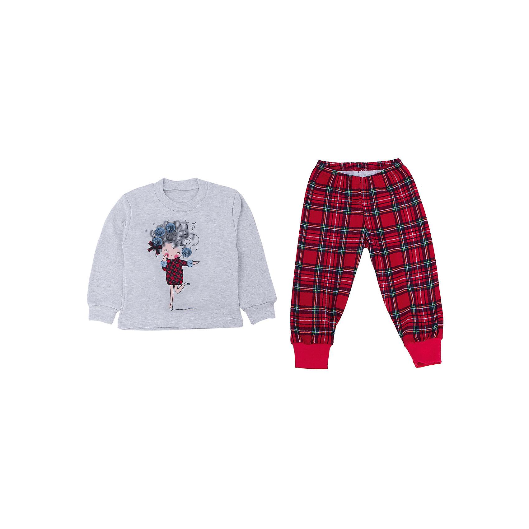 Пижама для девочки АпрельПижамы и сорочки<br>Пижама Апрель.<br><br>Характеристики:<br>• состав: 100% хлопок/70% хлопок, 30% полиэстер<br>• цвет: красный/серый<br>• рисунок: девочка<br><br>Пижама Апрель изготовлена из дышащих материалов, благодаря чему ваш ребенок не вспотеет во время сна. Зауженные манжеты и резинка на поясе не пропустят холодный воздух. Яркая расцветка нижней части пижамы отлично сочетается с верхом серого цвета, с красными вставками. Эта пижама подарит ребенку комфорт и самые яркие сны!<br><br>Пижаму Апрель вы можете приобрести в нашем интернет-магазине.<br><br>Ширина мм: 281<br>Глубина мм: 70<br>Высота мм: 188<br>Вес г: 295<br>Цвет: красный/серый<br>Возраст от месяцев: 24<br>Возраст до месяцев: 36<br>Пол: Женский<br>Возраст: Детский<br>Размер: 128,92,104,110,116,122,98<br>SKU: 4936920