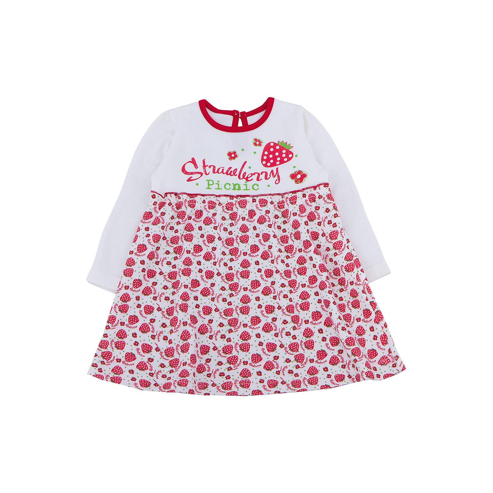 Платье для девочки АпрельПлатье для девочки Апрель.<br><br>Характеристики:<br>• состав: 100% хлопок<br>• цвет: белый/красный<br><br>Платье от известной марки Апрель изготовлено из качественного материала, обеспечивающего девочке комфорт. Оно имеет длинные рукава, расширенный к низу силуэт и круглый ворот. Приятная расцветка платья, несомненно, порадует девочку. Подол платья украшен множеством маленьких клубничек, верх - крупной клубничкой. Платье отлично подходит и для праздника, и для повседневной носки.<br><br>Вы можете купить платье для девочки Апрель в нашем интернет-магазине.<br><br>Ширина мм: 236<br>Глубина мм: 16<br>Высота мм: 184<br>Вес г: 177<br>Цвет: красный<br>Возраст от месяцев: 6<br>Возраст до месяцев: 9<br>Пол: Женский<br>Возраст: Детский<br>Размер: 74,98,92,86,80<br>SKU: 4936949