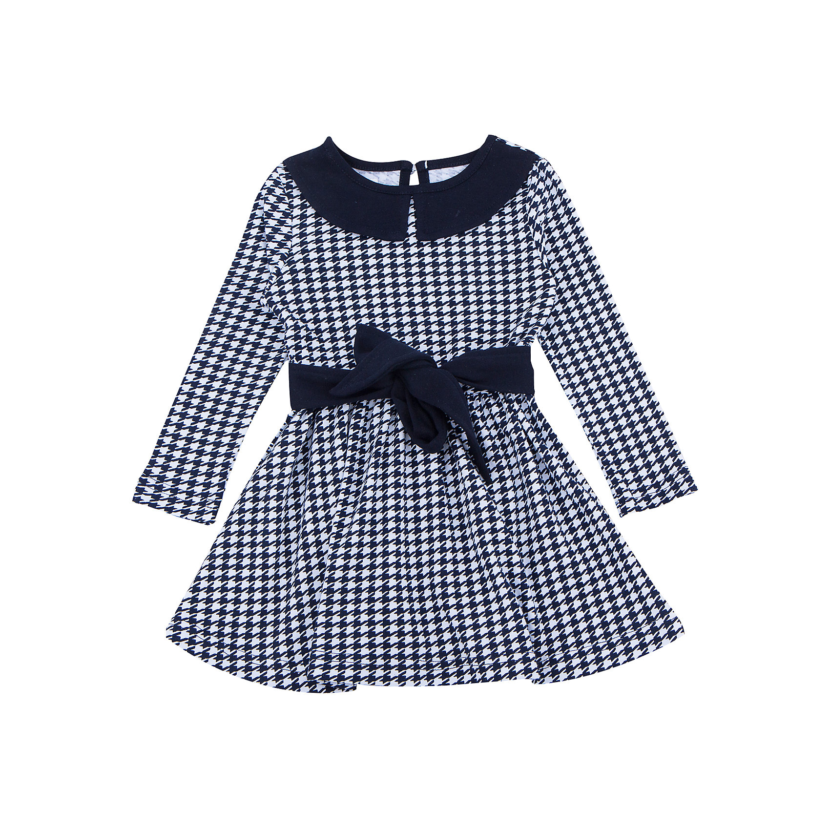 Платье для девочки АпрельПлатье для девочки Апрель.<br><br>Характеристики:<br>• состав: 100% хлопок<br>• цвет: синий/белый<br>• коллекция: Высокий стиль<br><br>Модное платье из коллекции Высокий стиль от известной марки Апрель изготовлено из плотного хлопка. Оно приятно телу и не сковывает движений. Платье имеет расширенный к низу силуэт, длинные рукава и круглый ворот. Сзади застегивается на пуговицу. Бело-синяя расцветка платья приятно дополнена темным воротником и поясом. Эта очаровательная модель прекрасно дополнит гардероб девочки!<br><br>Платье для девочки Апрель вы можете купить в нашем интернет-магазине.<br><br>Ширина мм: 236<br>Глубина мм: 16<br>Высота мм: 184<br>Вес г: 177<br>Цвет: синий/белый<br>Возраст от месяцев: 24<br>Возраст до месяцев: 36<br>Пол: Женский<br>Возраст: Детский<br>Размер: 146,92,104,110,116,98,122,128,134,140<br>SKU: 4937004