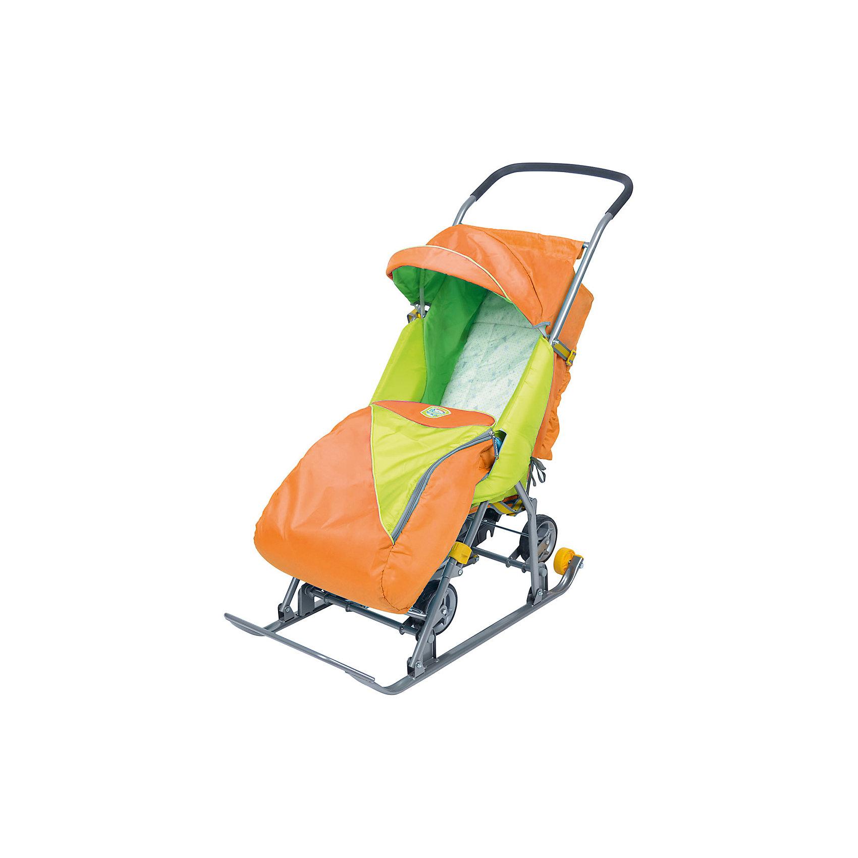 Ника Санки-коляска Тимка 2 Универсальные, оранжевый санки мягкие одноместные ср 2