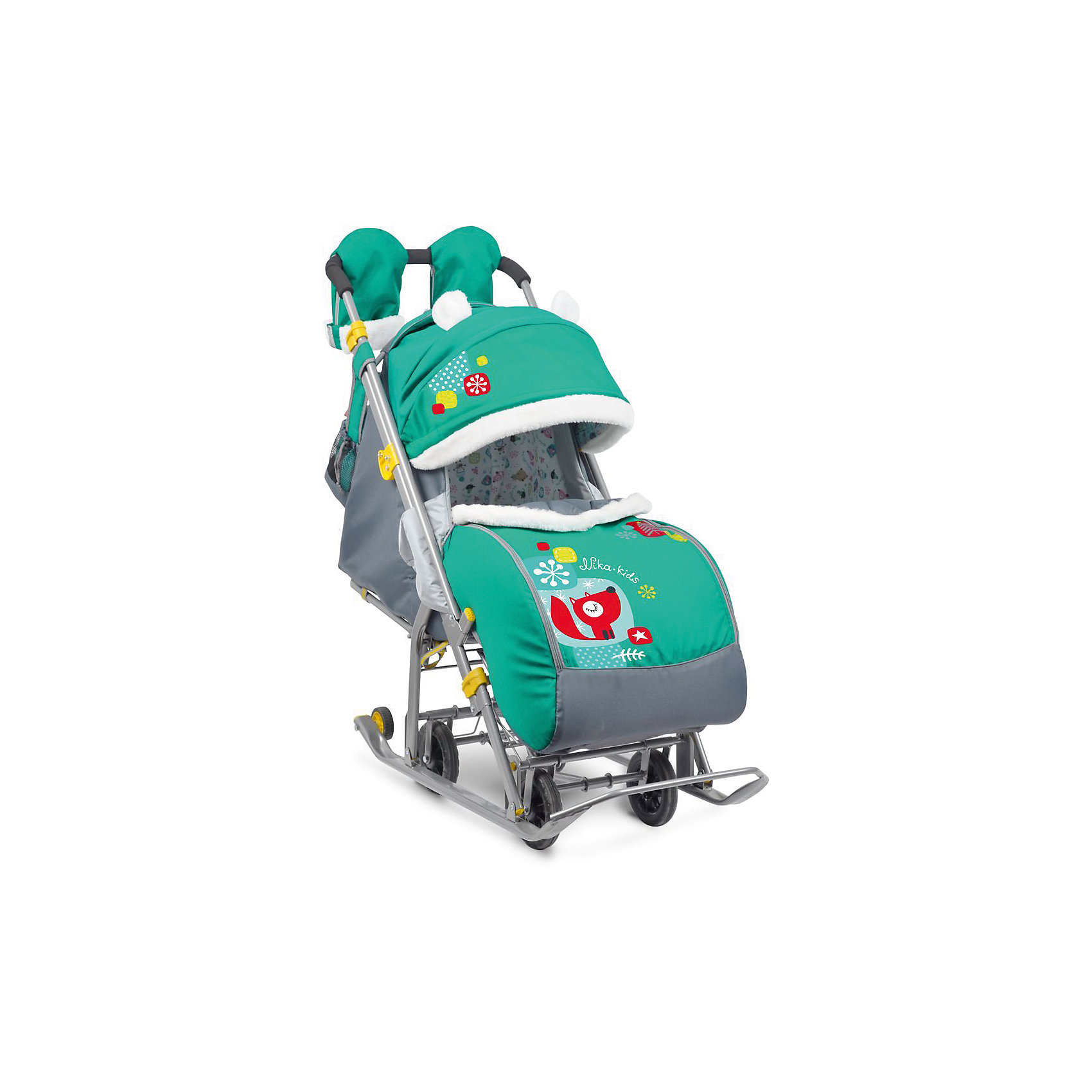 Санки-коляска Ника детям 7-2, Коллаж-лисички, изумрудСанки-коляска Ника детям 7-2, Коллаж-лисички, изумруд – легкое передвижение в снежную погоду.<br>Удобные санки оснащены пятиточечными ремнями безопасности, которые предотвращают выпадение малыша из колясок даже при очень быстрой ходьбе. Благодаря широким полозьям и транспортировочным колесам санки-коляску очень легко перемещать и возить как по бездорожью, так и по дорогам с небольшим количеством снега. Чехол для ножек и капюшон с окошком позволяют малышу укрыться от снега, ветра, метели и не заскучать. Спинка регулируется в трех положениях, а специальная подножка позволяет ребенку удобно разместиться лежа. Ручка для родителей имеет два положения: сзади санок и спереди, и оснащена теплыми варежками для долгих прогулок. В комплект к санкам идет вместительная сумка.<br><br>Дополнительная информация:<br><br>- материал: металл, полиэсте <br>- размер в разложенном виде (с выдвинутой колесной базой):105х44,5х109,5 см<br>- высота ручки от земли: 93 см<br>- размер сиденья: 32 х 29 см<br>- размер спинки: 33х43 см<br>- размер в сложенном виде: 110,5х44,5х28 см<br>- вес: 10 кг<br>- максимальный вес ребенка: 25 кг<br><br>Санки-коляска Ника детям 7-2, Коллаж-лисички, изумруд можно купить в нашем магазине.<br><br>Ширина мм: 1105<br>Глубина мм: 445<br>Высота мм: 280<br>Вес г: 11000<br>Возраст от месяцев: 12<br>Возраст до месяцев: 48<br>Пол: Унисекс<br>Возраст: Детский<br>SKU: 4937468