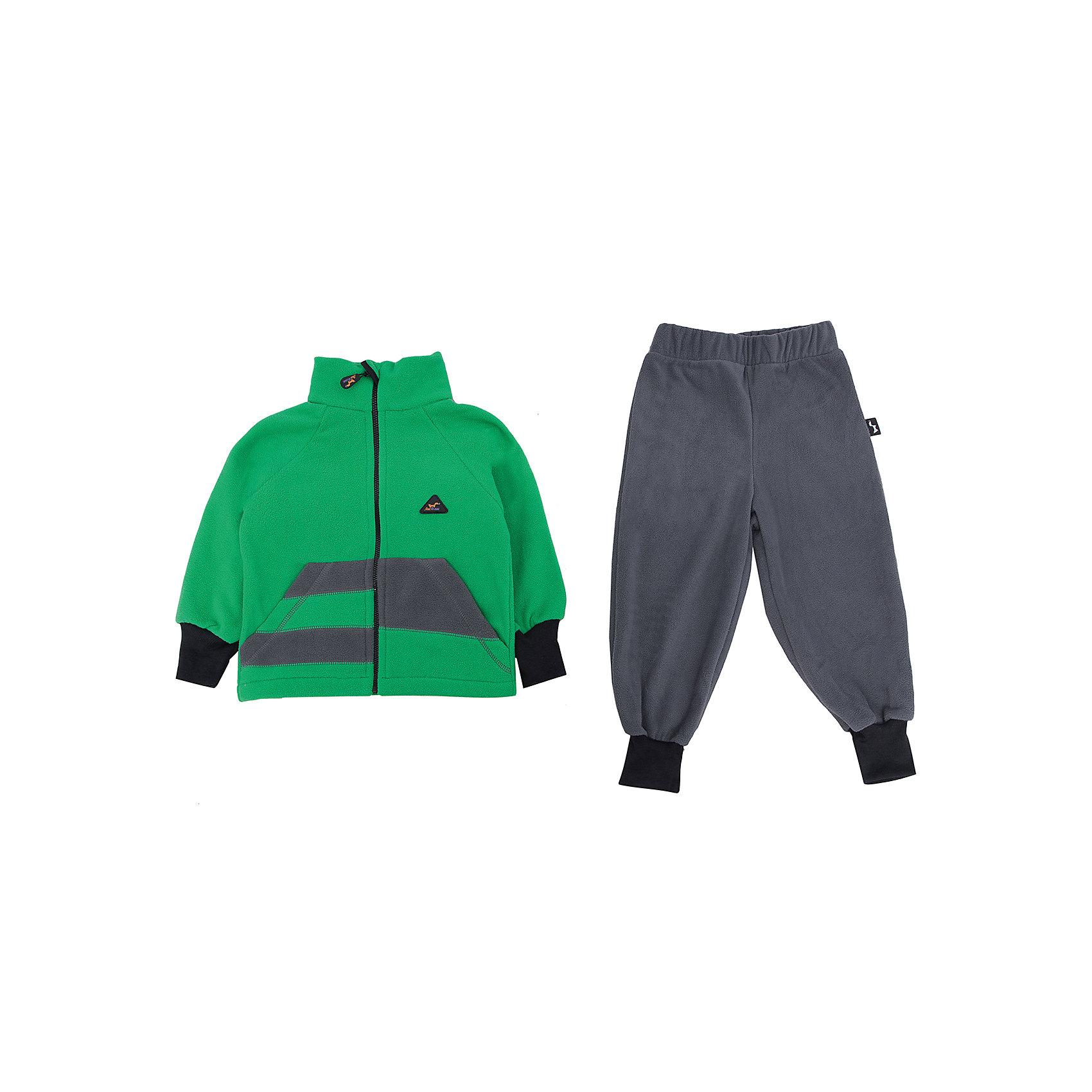 Комплект Полоска ЛисФлисХарактеристики комплекта Полоска:<br><br>- модель костюма: с брюками<br>- комплектация: кофта, штаны<br>- цвет: зеленый, серый<br>- пол: для мальчиков, для девочек <br>- длина рукава: длинные<br>- вид застежки: молния<br>- тип карманов: накладные<br>- покрой: прямой<br>- фактура материала: флис<br>- уход за вещами: предварительная стирка<br>- рисунок: без рисунка<br>- утеплитель: без утепления<br>- назначение: повседневная<br>- сезон: круглогодичный<br>- страна бренда: Россия<br>- страна производитель: Россия<br><br>Комплект Полоска торговой марки ЛисФлис - это очень мягкое, легкое, теплое изделие! Комплект выполнен из двустороннего микрофлиса (180 гр.) с манжетами на рукавах и штанинах, защитой-стоппером от молнии и интересным дизайнерским решением на передней части кофты.<br><br>Комплект Полоска торговой марки ЛисФлис можно купить в нашем интернет-магазине.<br><br>Ширина мм: 190<br>Глубина мм: 74<br>Высота мм: 229<br>Вес г: 236<br>Цвет: grau/gr?n<br>Возраст от месяцев: 48<br>Возраст до месяцев: 60<br>Пол: Мужской<br>Возраст: Детский<br>Размер: 110,80,86,92,98,104,116,122,128,134<br>SKU: 4939388