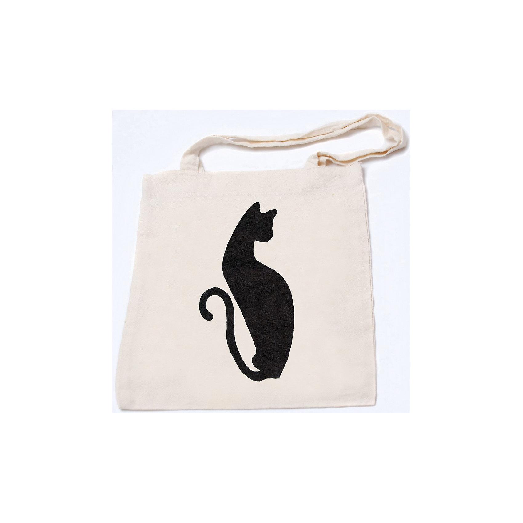 STIGIS Стигис-аппликация на эко-сумке Черная кошка купить бурманская кошка в омске