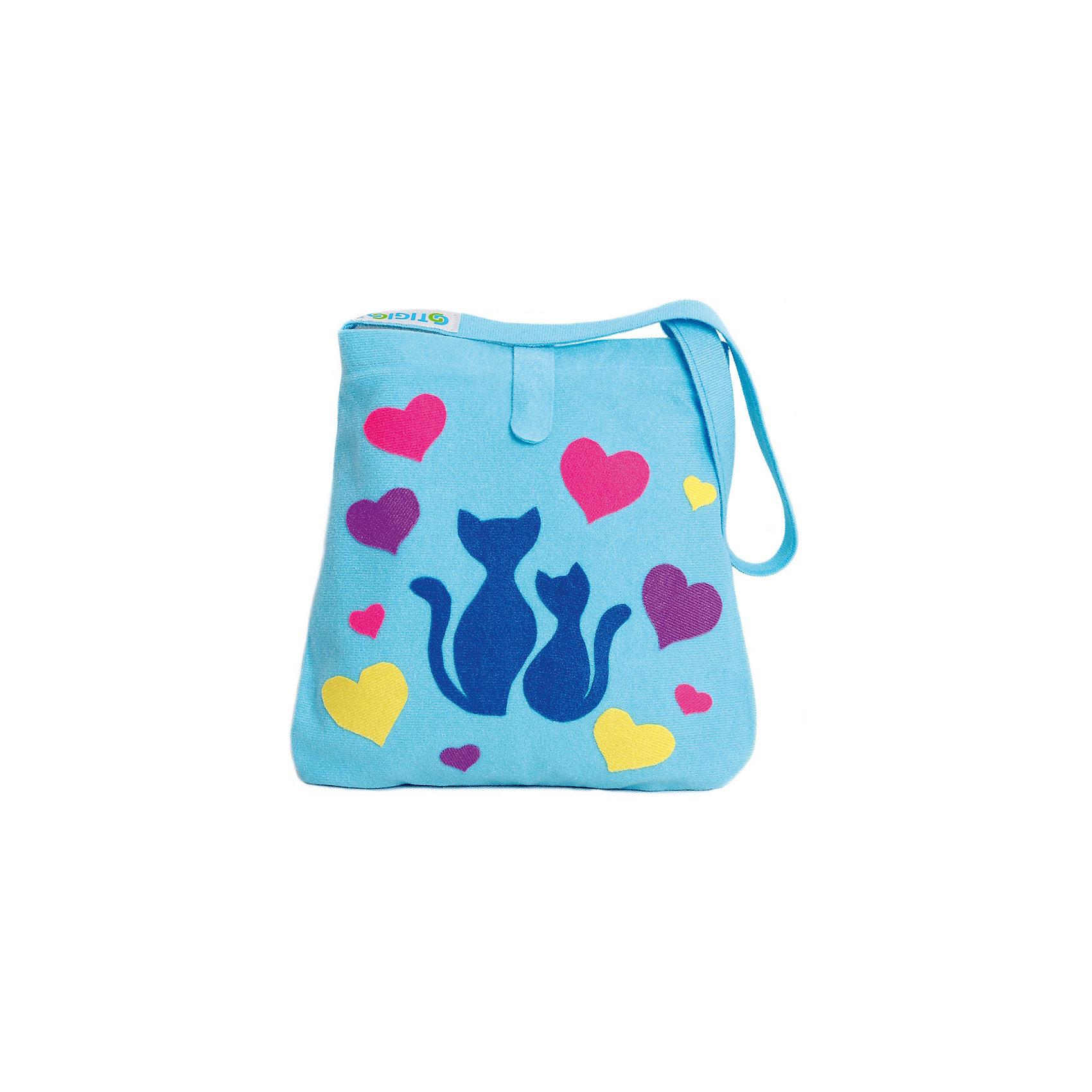 Стигис-аппликация Сумка детская, голубаяЕсли девочка давно мечтает о красивой сумке с оригинальной аппликацией, то ей обязательно понравится набор для стигис-аппликации на сумке. Ребенок сможет самостоятельно придумать дизайн и воссоздать его на сумочке при помощи ткани с термоклеевым слоем. Достаточно вырезать нужные элементы, выложить их на сумку и прогладить утюгом - красивая и практичная сумочка готова! В случае ошибки ткань можно снова прогладить утюгом, и она отклеится. Такой вид детского творчество хорошо развивает аккуратность, воображение и дизайнерские способности. Отличный подарок для юных рукодельниц!<br><br>Дополнительная информация: <br>В комплекте: сумка, кусочки stigis-ткани, выкройки, инструкция<br>Цвет: голубой<br>Размер: 3,5х27х20 см<br>Вес: 110 грамм<br>Набор для стигис-аппликации можно купить в нашем интернет-магазине.<br><br>Ширина мм: 200<br>Глубина мм: 270<br>Высота мм: 35<br>Вес г: 110<br>Возраст от месяцев: 60<br>Возраст до месяцев: 120<br>Пол: Унисекс<br>Возраст: Детский<br>SKU: 4939426