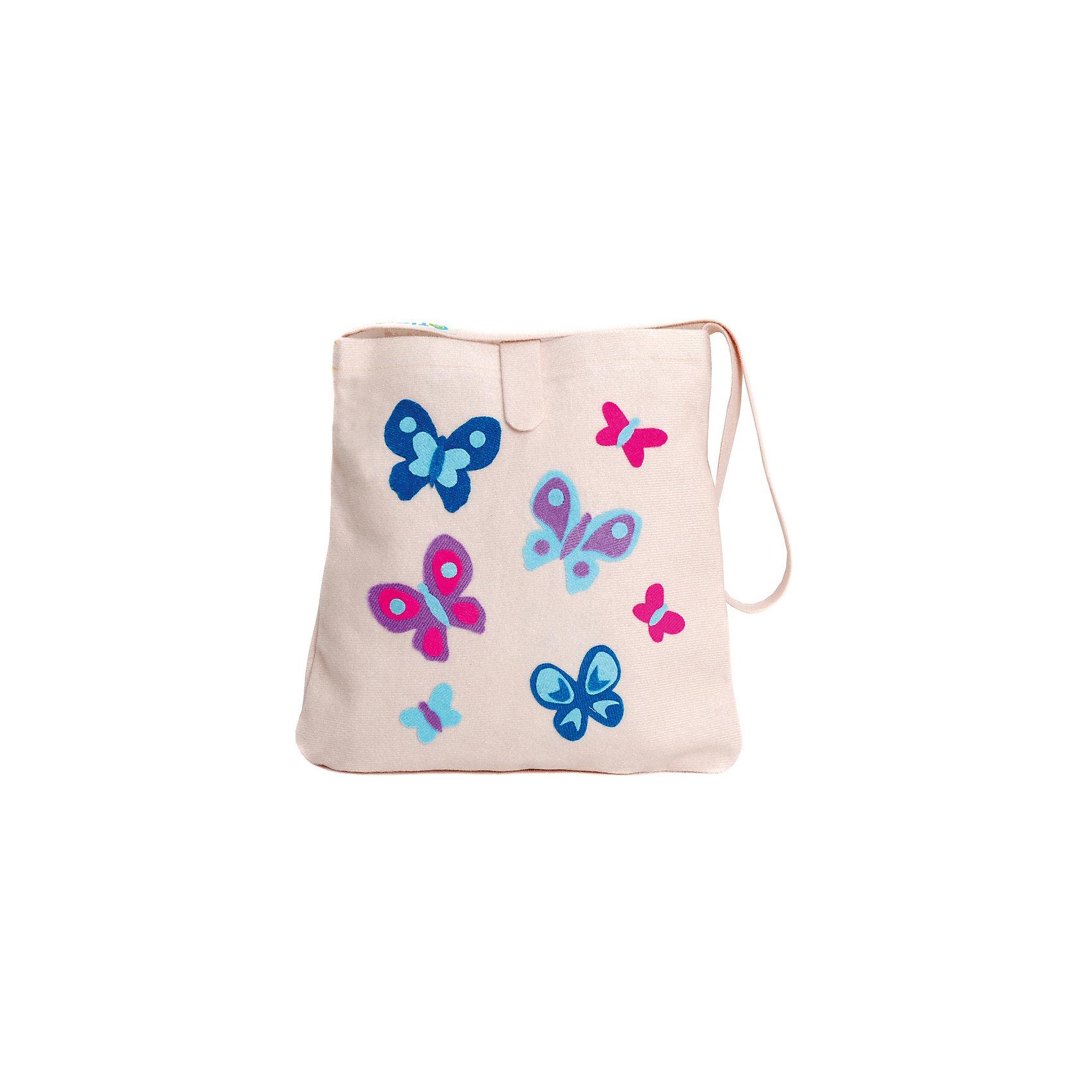 Стигис-аппликация Сумка детская, молочнаяШитьё<br>Если девочка давно мечтает о красивой сумке с оригинальной аппликацией, то ей обязательно понравится набор для стигис-аппликации на сумке. Ребенок сможет самостоятельно придумать дизайн и воссоздать его на сумочке при помощи ткани с термоклеевым слоем. Достаточно вырезать нужные элементы, выложить их на сумку и прогладить утюгом - красивая и практичная сумочка готова! В случае ошибки ткань можно снова прогладить утюгом, и она отклеится. Такой вид детского творчество хорошо развивает аккуратность, воображение и дизайнерские способности. Отличный подарок для юных рукодельниц!<br><br>Дополнительная информация: <br>В комплекте: сумка, кусочки stigis-ткани, выкройки, инструкция<br>Цвет: молочный<br>Размер: 3,5х27х20 см<br>Вес: 110 грамм<br>Набор для стигис-аппликации можно купить в нашем интернет-магазине.<br><br>Ширина мм: 200<br>Глубина мм: 270<br>Высота мм: 35<br>Вес г: 110<br>Возраст от месяцев: 60<br>Возраст до месяцев: 120<br>Пол: Унисекс<br>Возраст: Детский<br>SKU: 4939427