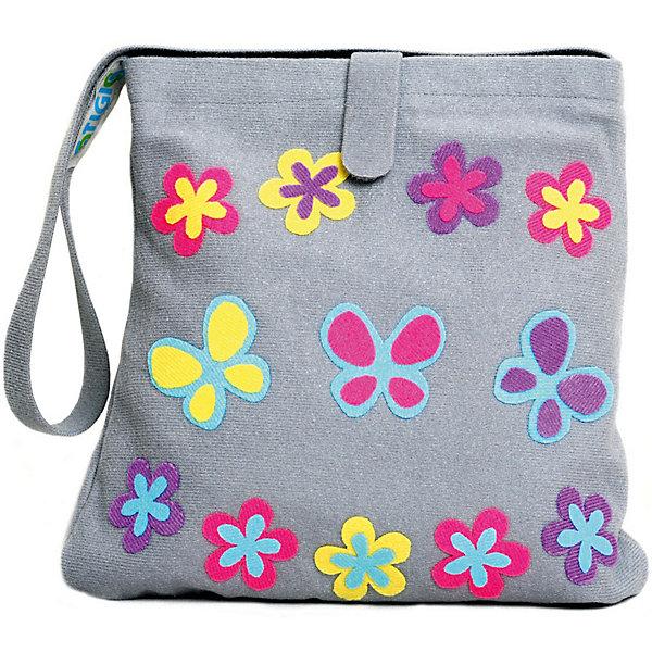 Стигис-аппликация Сумка детская, сераяБумага<br>Если девочка давно мечтает о красивой сумке с оригинальной аппликацией, то ей обязательно понравится набор для стигис-аппликации на сумке. Ребенок сможет самостоятельно придумать дизайн и воссоздать его на сумочке при помощи ткани с термоклеевым слоем. Достаточно вырезать нужные элементы, выложить их на сумку и прогладить утюгом - красивая и практичная сумочка готова! В случае ошибки ткань можно снова прогладить утюгом, и она отклеится. Такой вид детского творчество хорошо развивает аккуратность, воображение и дизайнерские способности. Отличный подарок для юных рукодельниц!<br><br>Дополнительная информация: <br>В комплекте: сумка, кусочки stigis-ткани, выкройки, инструкция<br>Цвет: серый<br>Размер: 3,5х27х20 см<br>Вес: 110 грамм<br>Набор для стигис-аппликации можно купить в нашем интернет-магазине.<br><br>Ширина мм: 200<br>Глубина мм: 270<br>Высота мм: 35<br>Вес г: 110<br>Возраст от месяцев: 60<br>Возраст до месяцев: 120<br>Пол: Унисекс<br>Возраст: Детский<br>SKU: 4939428