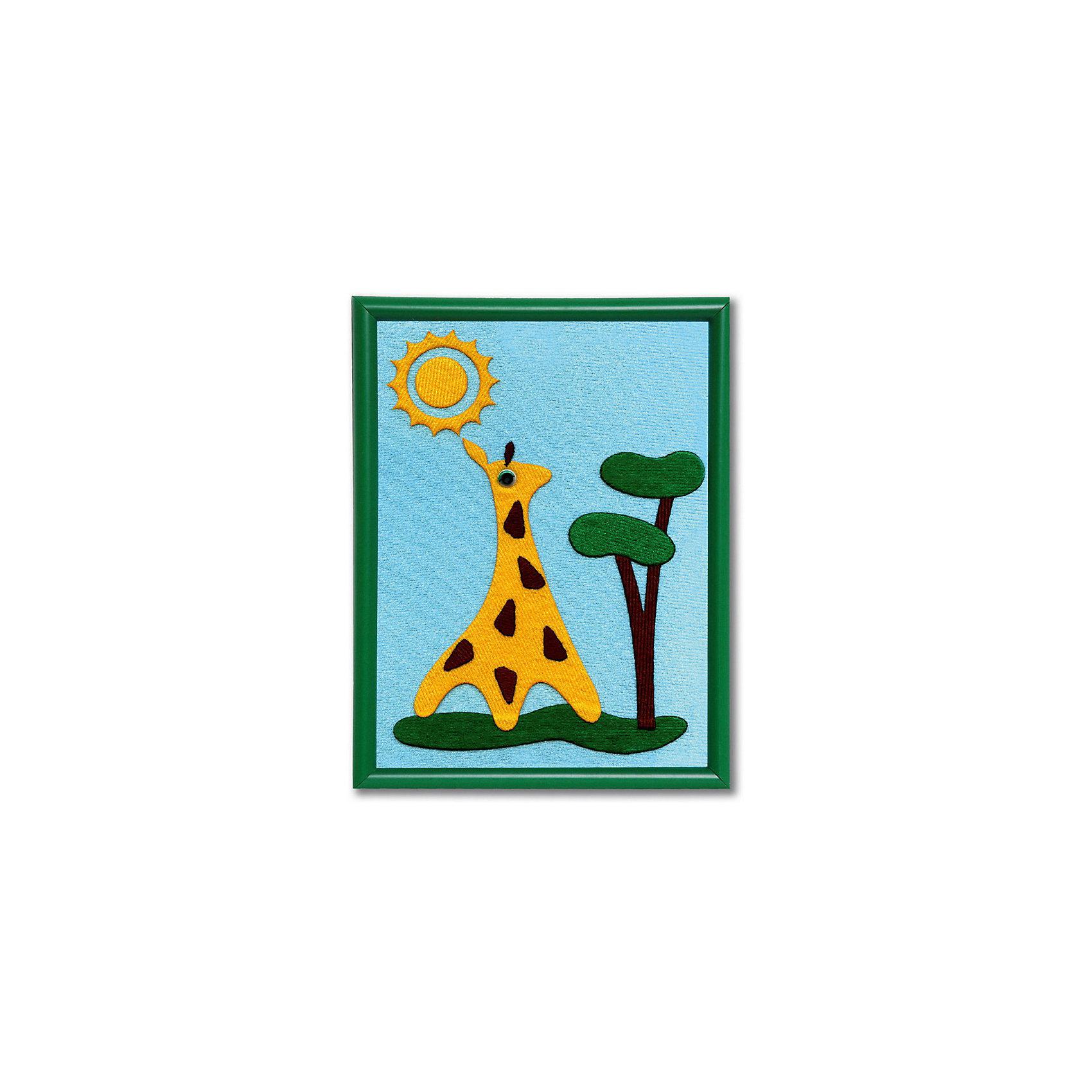 Стигис-аппликация для малышей ЖирафикБумага<br>Стигис-аппликация Жирафик - прекрасный вариант для детского творчества. Прекрасно развивает усидчивость, внимание и творческое мышление. Для создания привлекательной картины ребенку нужно только выложить готовые детали ткани на основу из картона, обтянутого тканью. С помощью мамы аппликацию следует прогладить утюгом - очаровательный жирафик готов! В набор входит рамочка для картины 20х15 см. Теперь красивой поделкой можно украсить детскую комнату или просто оставить в подарок друзьям!<br><br>Дополнительная информация:<br>В комплекте: рамочка, основа из картона, готовые детали из stigis ткани, объемные пластиковые глаза<br>Размер: 1,5х17х23 см<br>Вес: 130 грамм<br>Набор для стигис-аппликации Жирафик вы можете приобрести в нашем интернет-магазине.<br><br>Ширина мм: 230<br>Глубина мм: 170<br>Высота мм: 15<br>Вес г: 130<br>Возраст от месяцев: 24<br>Возраст до месяцев: 60<br>Пол: Унисекс<br>Возраст: Детский<br>SKU: 4939435