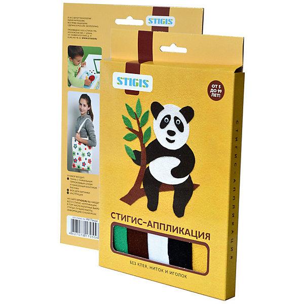 Стигис-аппликация картинка ПандаБумага<br>Стигис-аппликация Панда - отличный набор для детского творчества. Для создания яркой и необычной картины нужно вырезать детали из ткани с термоклеящимся слоем, выложить их на основу и прогладить с помощью утюга. Панда готова! Поделкой ребенок с удовольствием похвастается перед друзьями или оставит в подарок. Замечательный выбор для развития творческих навыков!<br><br>Дополнительная информация:<br>В комплекте: основа, ткань с контурами деталей, инструкция<br>Размер: 1,5х23х15 см<br>Вес: 54 грамма<br>Вы можете приобрести стигис-аппликацию Панда в нашем интернет-магазине.<br><br>Ширина мм: 150<br>Глубина мм: 230<br>Высота мм: 15<br>Вес г: 54<br>Возраст от месяцев: 60<br>Возраст до месяцев: 2147483647<br>Пол: Унисекс<br>Возраст: Детский<br>SKU: 4939438
