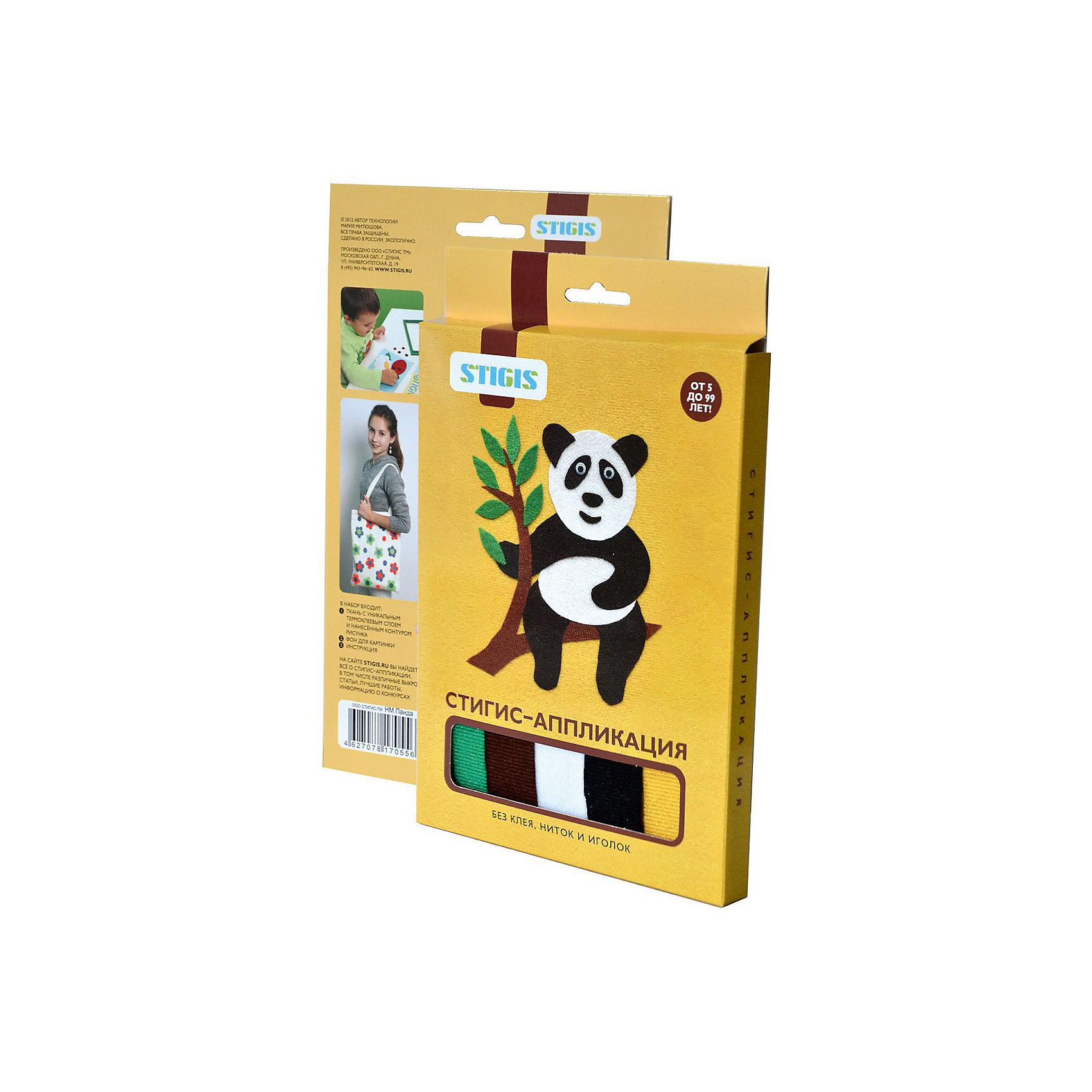 Стигис-аппликация картинка ПандаСтигис-аппликация Панда - отличный набор для детского творчества. Для создания яркой и необычной картины нужно вырезать детали из ткани с термоклеящимся слоем, выложить их на основу и прогладить с помощью утюга. Панда готова! Поделкой ребенок с удовольствием похвастается перед друзьями или оставит в подарок. Замечательный выбор для развития творческих навыков!<br><br>Дополнительная информация:<br>В комплекте: основа, ткань с контурами деталей, инструкция<br>Размер: 1,5х23х15 см<br>Вес: 54 грамма<br>Вы можете приобрести стигис-аппликацию Панда в нашем интернет-магазине.<br><br>Ширина мм: 150<br>Глубина мм: 230<br>Высота мм: 15<br>Вес г: 54<br>Возраст от месяцев: 60<br>Возраст до месяцев: 2147483647<br>Пол: Унисекс<br>Возраст: Детский<br>SKU: 4939438