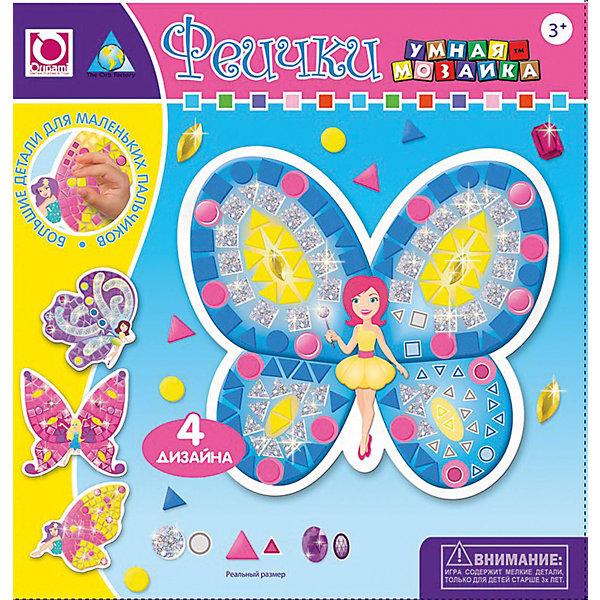 Мозаика-набор Феечки, 4 картинкиМозаика детская<br>Мозаика Феечки поможет девочки создать прекрасных фей своими руками. В набор входят четыре картинки с пронумерованными полями. На них ребенку нужно будет наклеить яркую мозаику, согласна цифрам на картинке. Специально для маленьких пальчиков мозаика состоит из удобных крупных элементов. Такой вид творчества развивает мелкую моторику, усидчивость и помогает ребенку запомнить цифры.<br>Дополнительная информация:<br><br>В комплекте: 4 картинки-основы, стразы, подвес<br>Размер: 24х4х24 см<br>Вес: 71 грамм<br>Мозаику Феечки можно приобрести в нашем интернет-магазине.<br><br>Ширина мм: 240<br>Глубина мм: 40<br>Высота мм: 240<br>Вес г: 71<br>Возраст от месяцев: 36<br>Возраст до месяцев: 96<br>Пол: Женский<br>Возраст: Детский<br>SKU: 4939468
