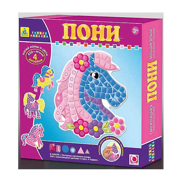 Мозаика-набор Пони, 4 картинкиМозаика детская<br>С мозаикой Пони ваш ребенок сможет создать красивую картинку. Набор содержит самоклеящиеся элементы разных форм и размеров, разные картинки. Прекрасно развивает мелкую моторику, усидчивость и аккуратность. Отличный выбор для малыша!<br>Дополнительная информация:<br><br>В комплекте: 4 картинки-основы, более 650 деталей и страз, 4 подвеса<br>Размер: 24х4х24 см<br>Вес: 278 грамм<br>Мозаику-набор Пони вы можете приобрести в нашем интернет-магазине.<br><br>Ширина мм: 240<br>Глубина мм: 40<br>Высота мм: 240<br>Вес г: 278<br>Возраст от месяцев: 36<br>Возраст до месяцев: 96<br>Пол: Унисекс<br>Возраст: Детский<br>SKU: 4939469