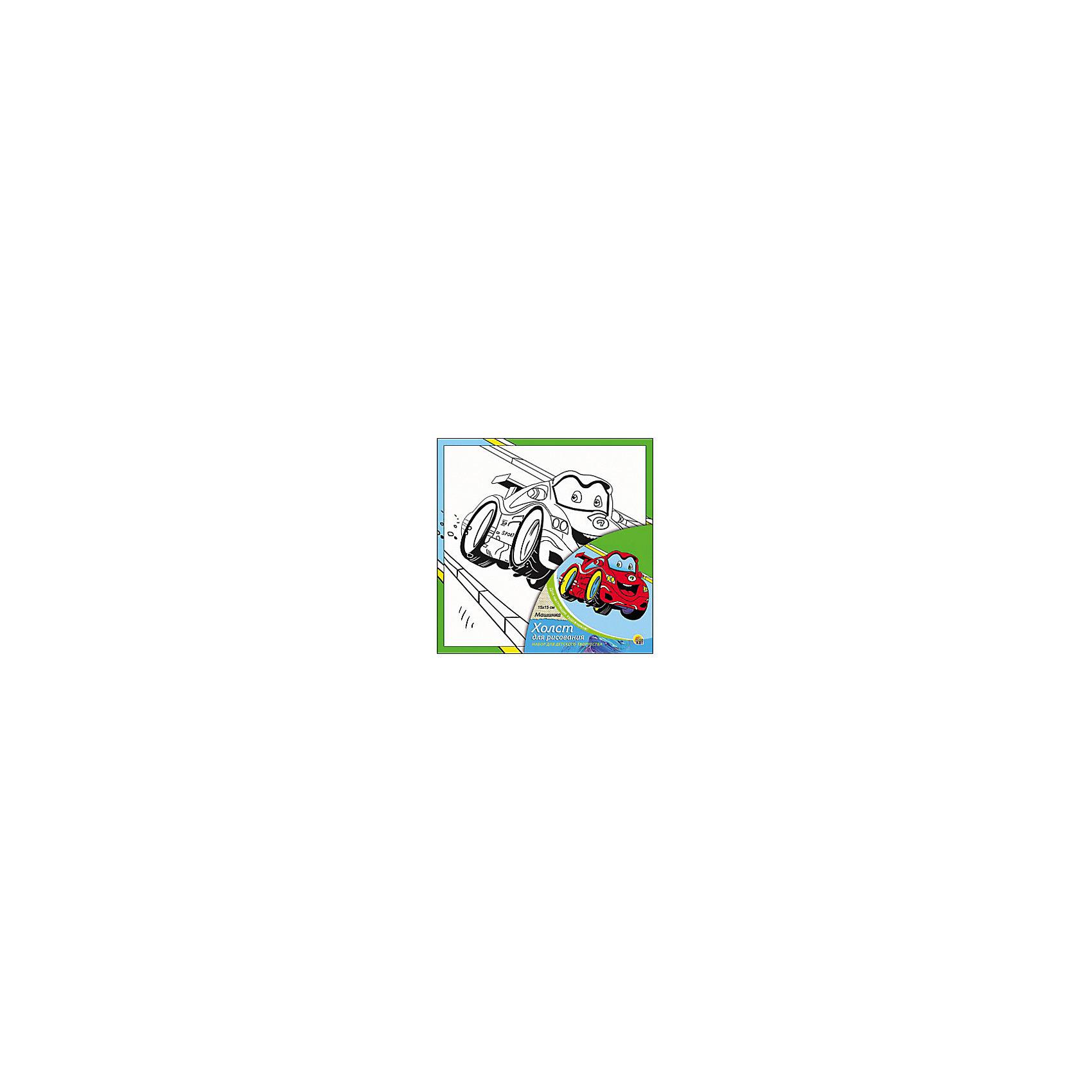 Холст с красками Машинка, 15х15 смМашинка - необыкновенный набор для детского творчества. Для того, чтобы оживить черно-белый эскиз, нужно нанести на него яркие акриловые краски, входящие в набор. Прелестная машинка понравится малышу и он сможет украсить ею свою комнату, а может даже подарить друзьям или близким. Творчество с таким набором хорошо развивает творческие навыки, усидчивость и аккуратность. Замечательный подарок для юного художника!<br><br>Дополнительная информация:<br>В комплекте: холст с эскизом, 7 акриловых красок, кисточка<br>Размер: 15х1,5х15 см<br>Вес: 140 грамм<br>Холст с красками Машинка можно приобрести в нашем интернет-магазине.<br><br>Ширина мм: 150<br>Глубина мм: 15<br>Высота мм: 150<br>Вес г: 140<br>Возраст от месяцев: 36<br>Возраст до месяцев: 120<br>Пол: Унисекс<br>Возраст: Детский<br>SKU: 4939498