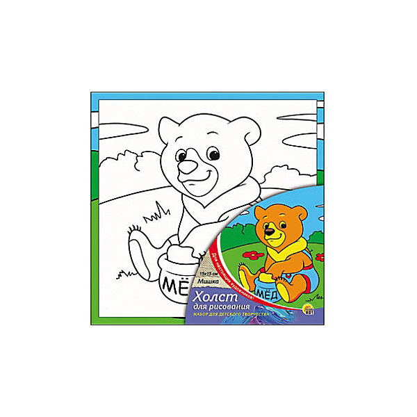 Холст с красками Мишка, 15х15 смРаскраски по номерам<br>Мишка - необыкновенный набор для детского творчества. Для того, чтобы оживить черно-белый эскиз, нужно нанести на него яркие акриловые краски, входящие в набор. Очаровательная картинка с мишкой понравится малышу и он сможет украсить ею свою комнату, а может даже подарить друзьям или близким. Творчество с таким набором хорошо развивает творческие навыки, усидчивость и аккуратность. Замечательный подарок для юного художника!<br><br>Дополнительная информация:<br>В комплекте: холст с эскизом, 7 акриловых красок, кисточка<br>Размер: 15х1,5х15 см<br>Вес: 140 грамм<br>Холст с красками Мишка можно приобрести в нашем интернет-магазине.<br><br>Ширина мм: 150<br>Глубина мм: 15<br>Высота мм: 150<br>Вес г: 140<br>Возраст от месяцев: 36<br>Возраст до месяцев: 120<br>Пол: Унисекс<br>Возраст: Детский<br>SKU: 4939499